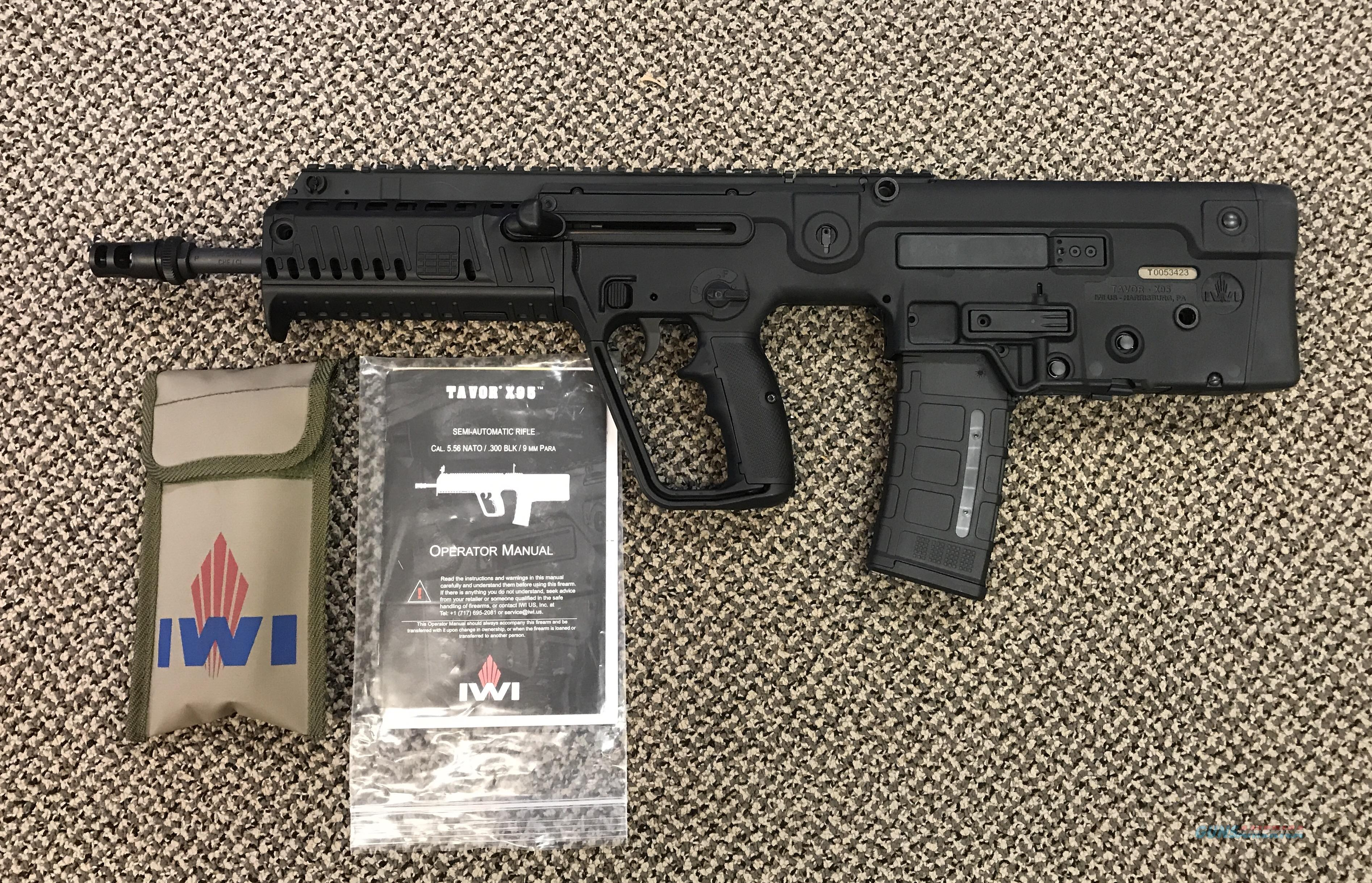IWI TAVOR X95 BLACK 16.5 INCH BBL 5.56 WITH AAC MUZZLE BREAK MINT  Guns > Rifles > IWI Rifles