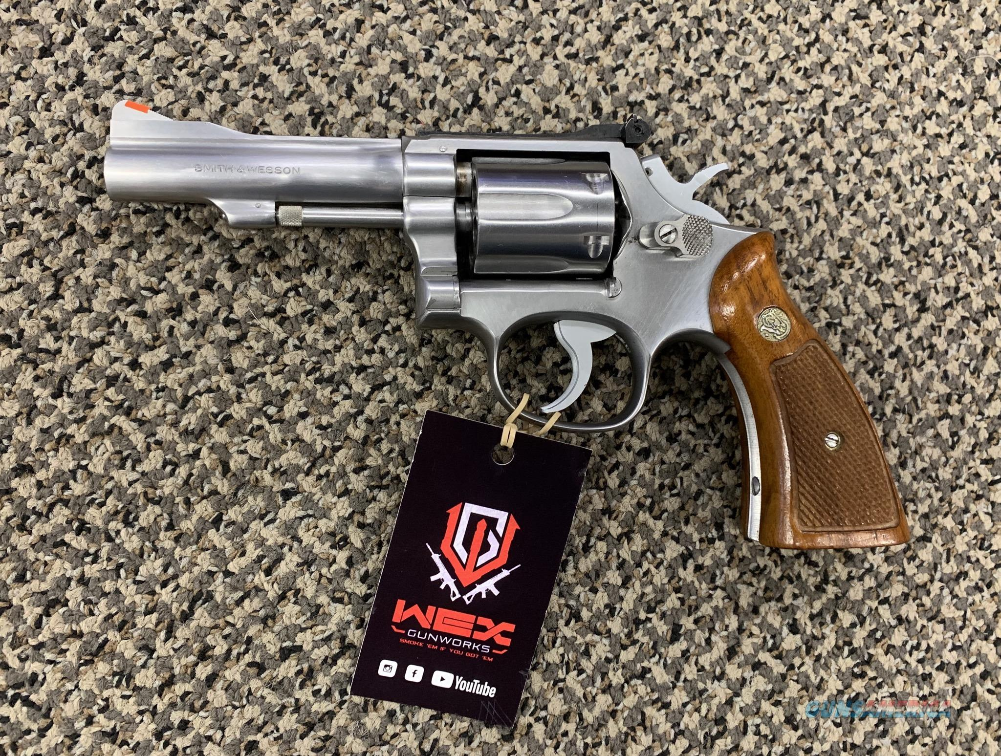 S&W MODEL 67-1 COMBAT MASTERPIECE STAINLESS .38 SPECIAL4 INCH BBL MINT  Guns > Pistols > Smith & Wesson Revolvers > Med. Frame ( K/L )
