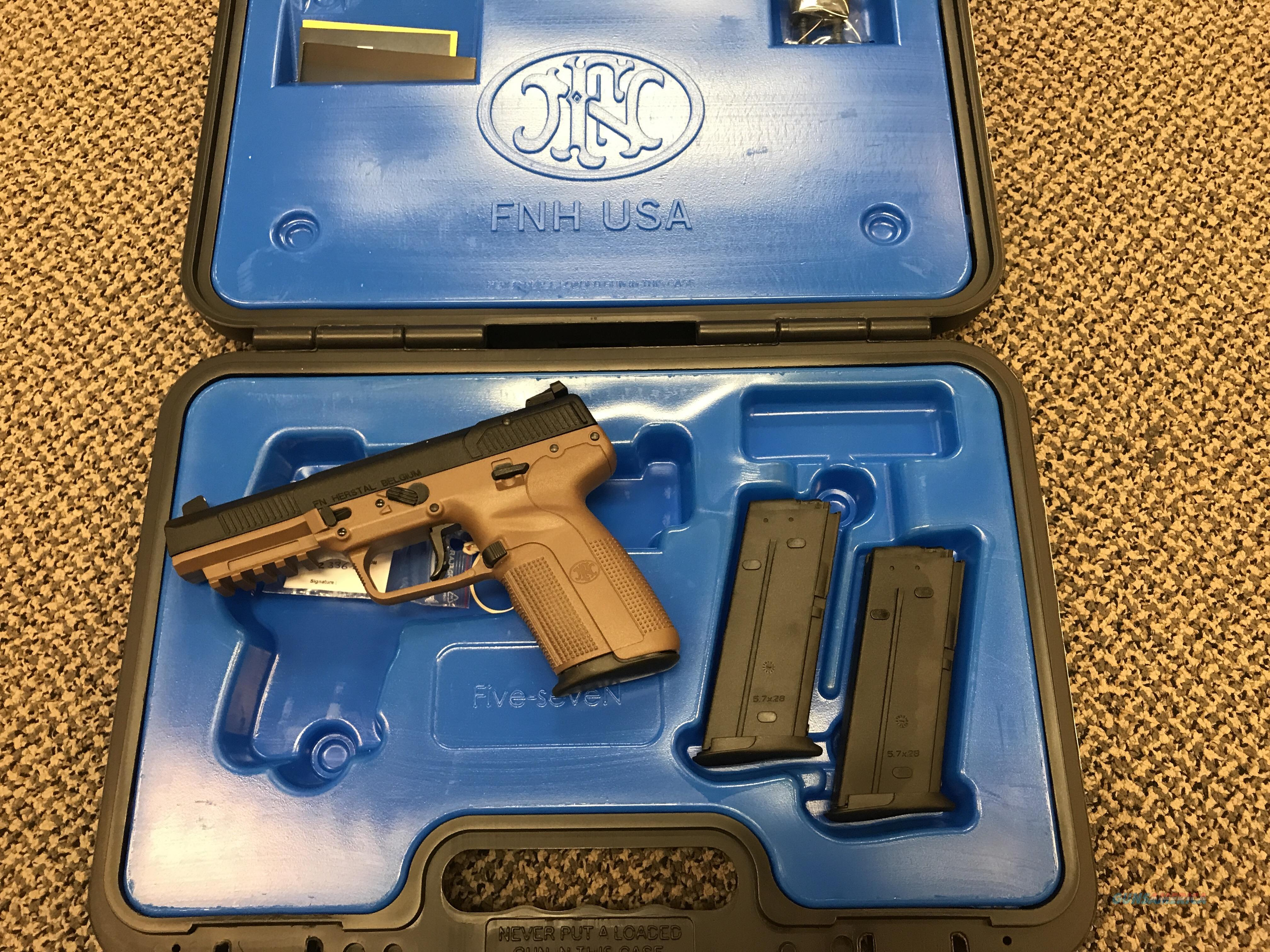 FN 5.7 PISTOL FLAT DARK EARTH NEW IN BOX  Guns > Pistols > FNH - Fabrique Nationale (FN) Pistols > FiveSeven