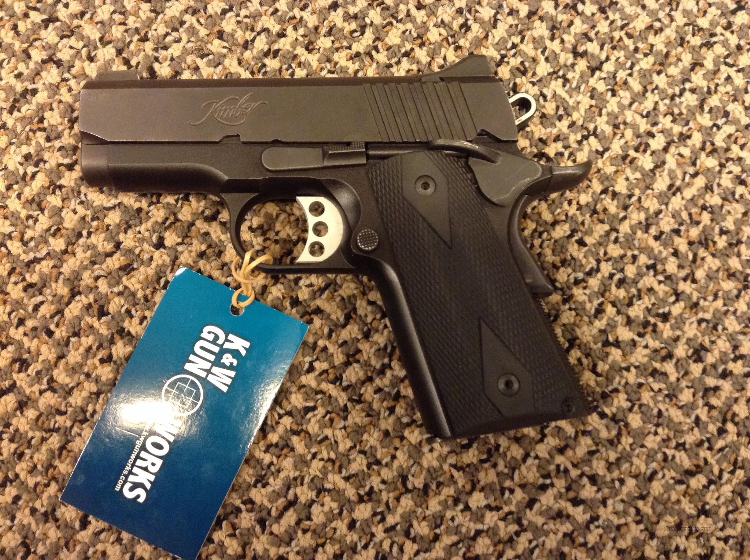 KIMBER ULTRA CARRY II 3 INCH 1911 .45ACP BLACK WITH NIGHT SIGHTS  Guns > Pistols > Kimber of America Pistols