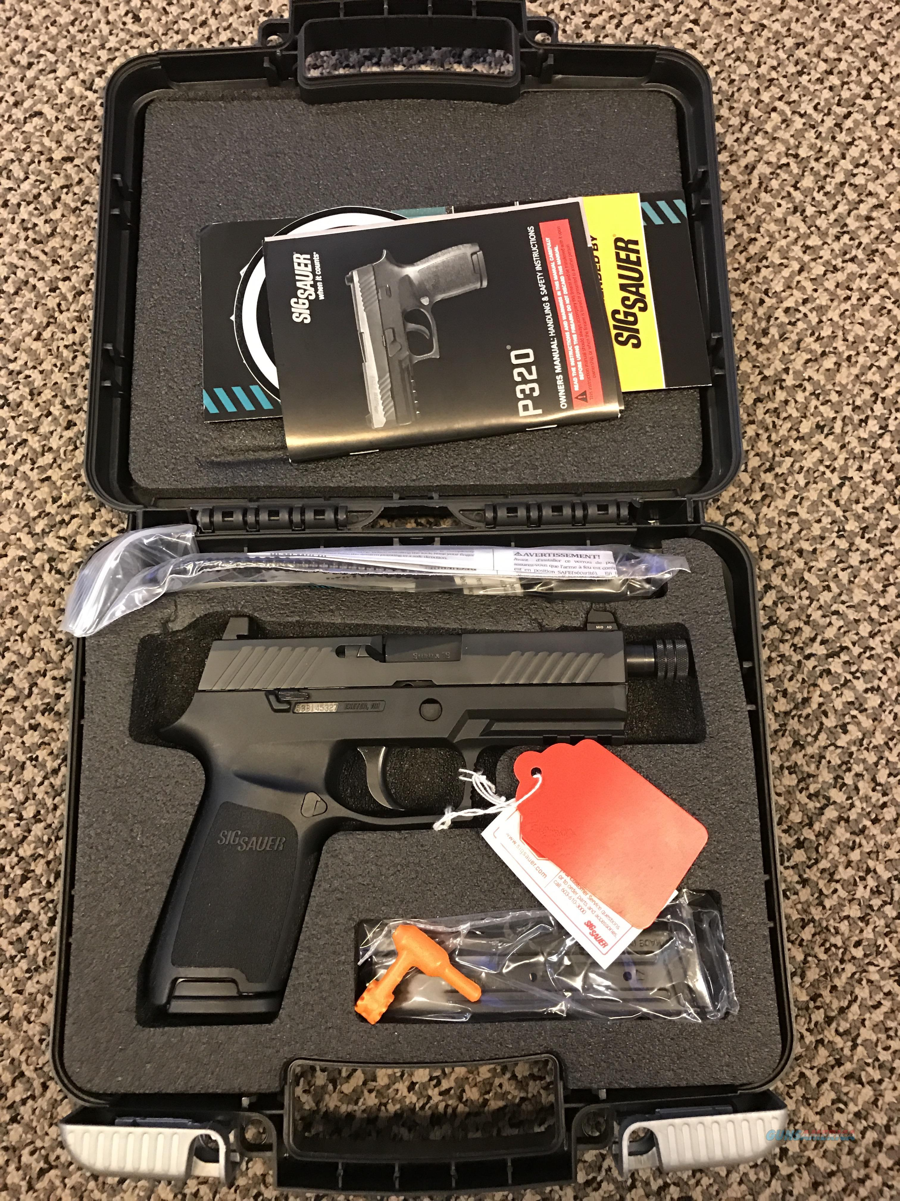 SIG SAUER P320 CARRY 17 ROUND 9MM THREADED 3.9 INCH BBL HIGH NIGHT SIGHTS NEW IN BOX  Guns > Pistols > Sig - Sauer/Sigarms Pistols > P320