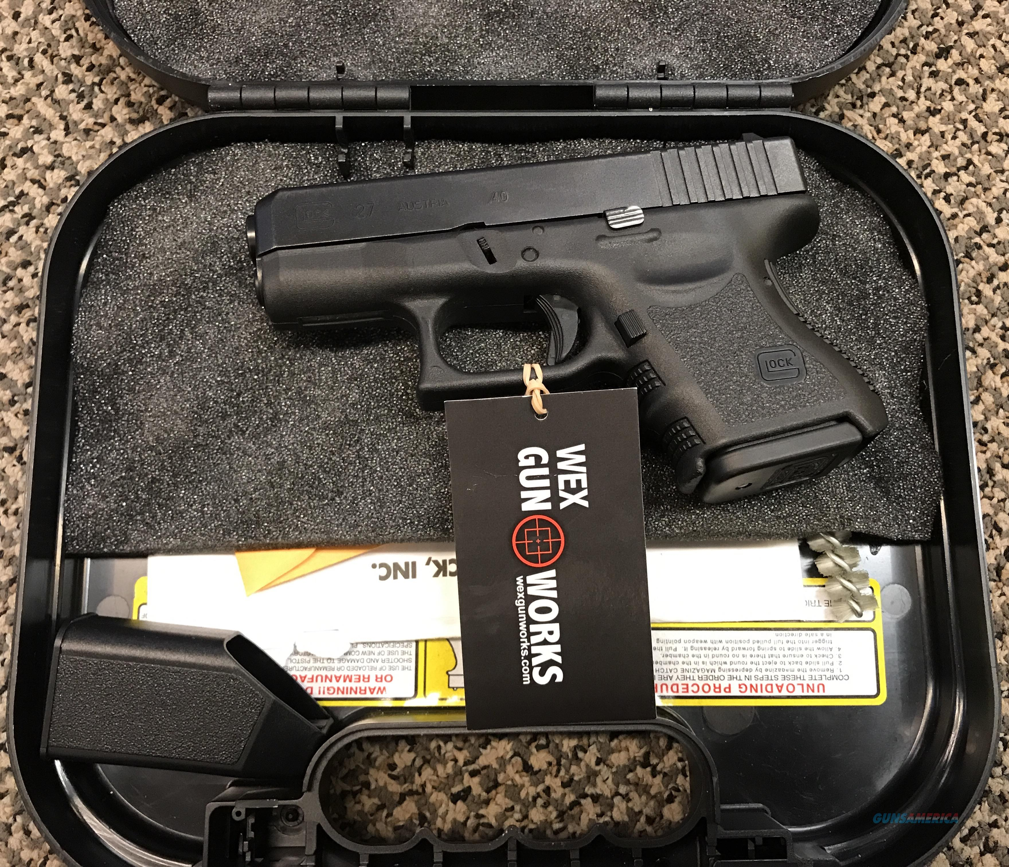 GLOCK 27 .40 S&W GEN 3 EXCELLENT CONDITION  Guns > Pistols > Glock Pistols > 26/27