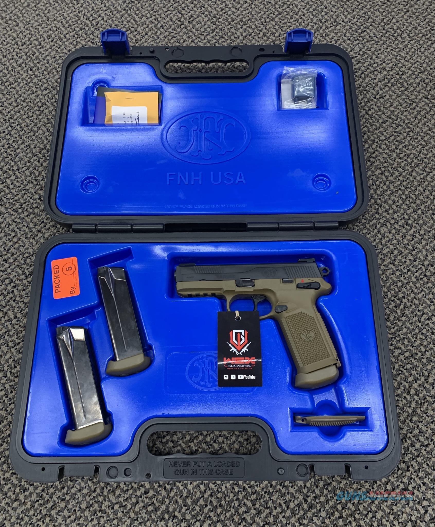 FN FNX 45 .45 ACP FDE BLACK SLIDE TRUGLO TFX NIGHT SIGHTS NEW IN BOX  Guns > Pistols > FNH - Fabrique Nationale (FN) Pistols > FNX