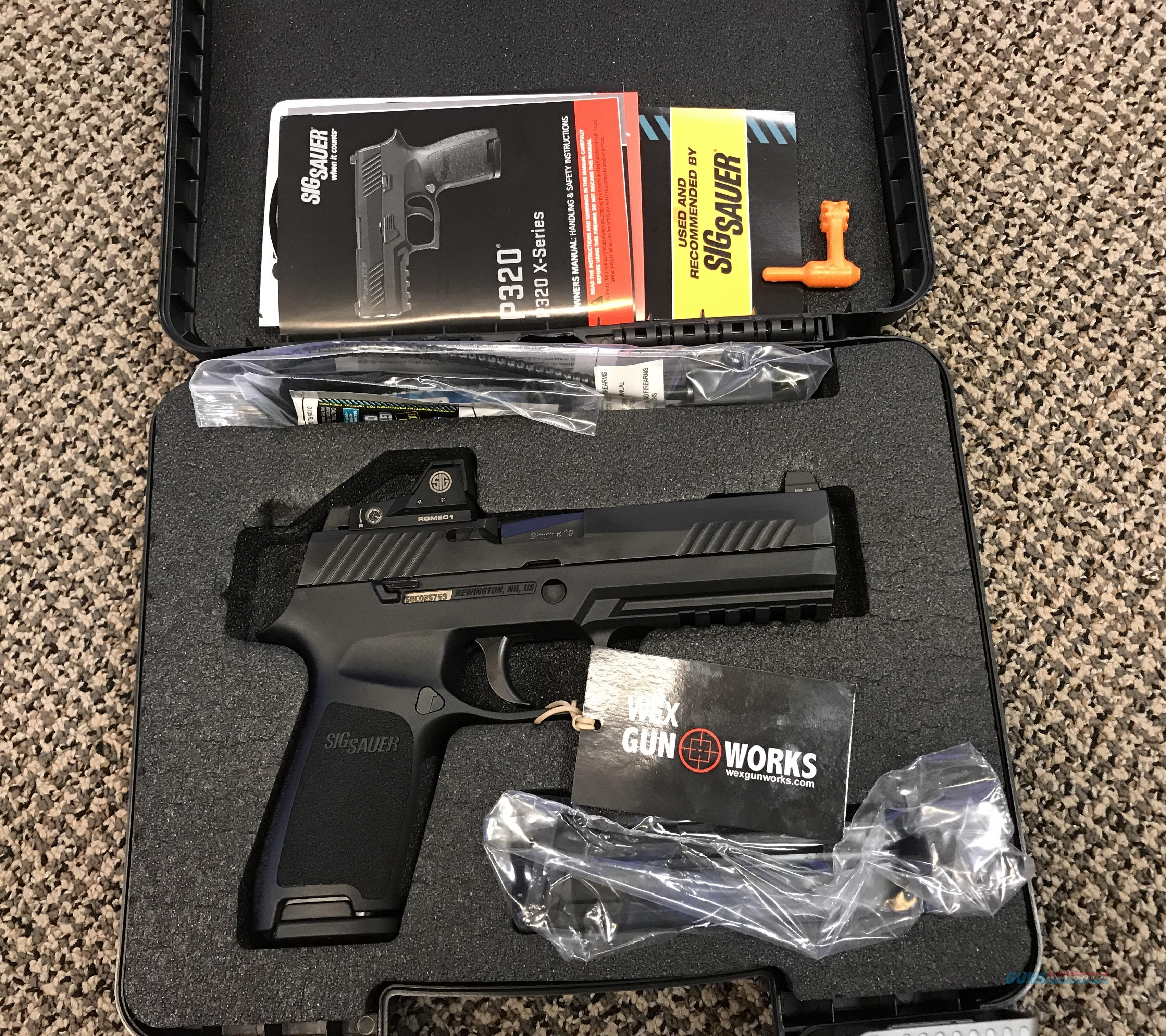 SIG SAUER P320F RX 9MM SIG ROMEO RED DOT SIGLITE NIGHT SIGHTS NEW IN BOX  Guns > Pistols > Sig - Sauer/Sigarms Pistols > P320
