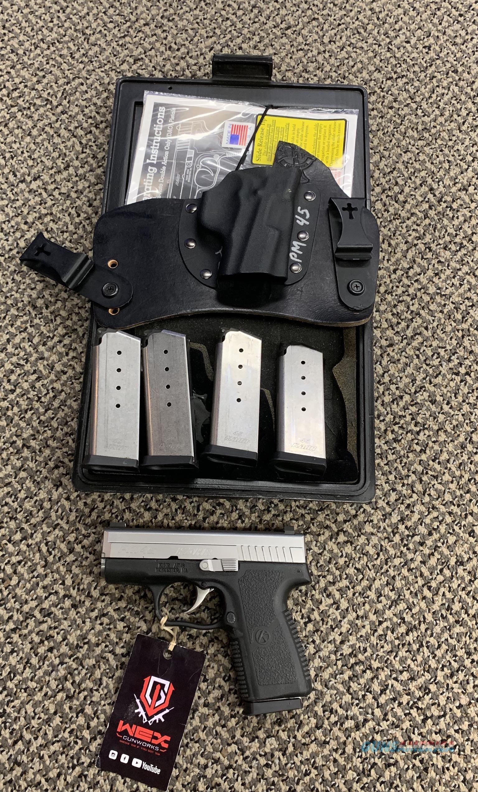 KAHR PM45 .45 ACP TWO TONE FIVE MAGAZINES  Guns > Pistols > Kahr Pistols