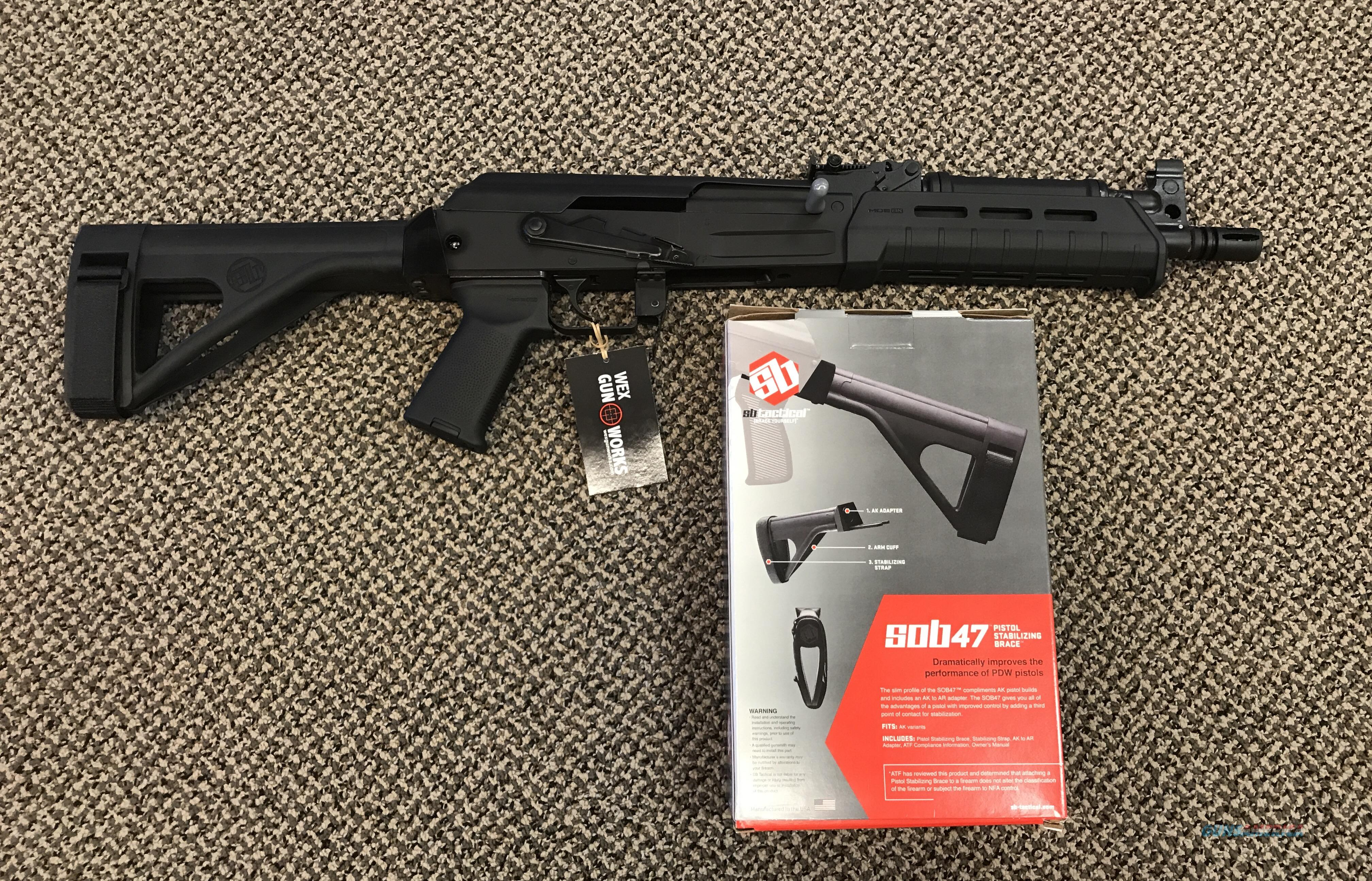 CENTURY ARMS C39V2 PISTOL MOE  7.62x39 WITH SB TACTICAL BRACE NEW IN BOX  Guns > Pistols > Century International Arms - Pistols > Pistols