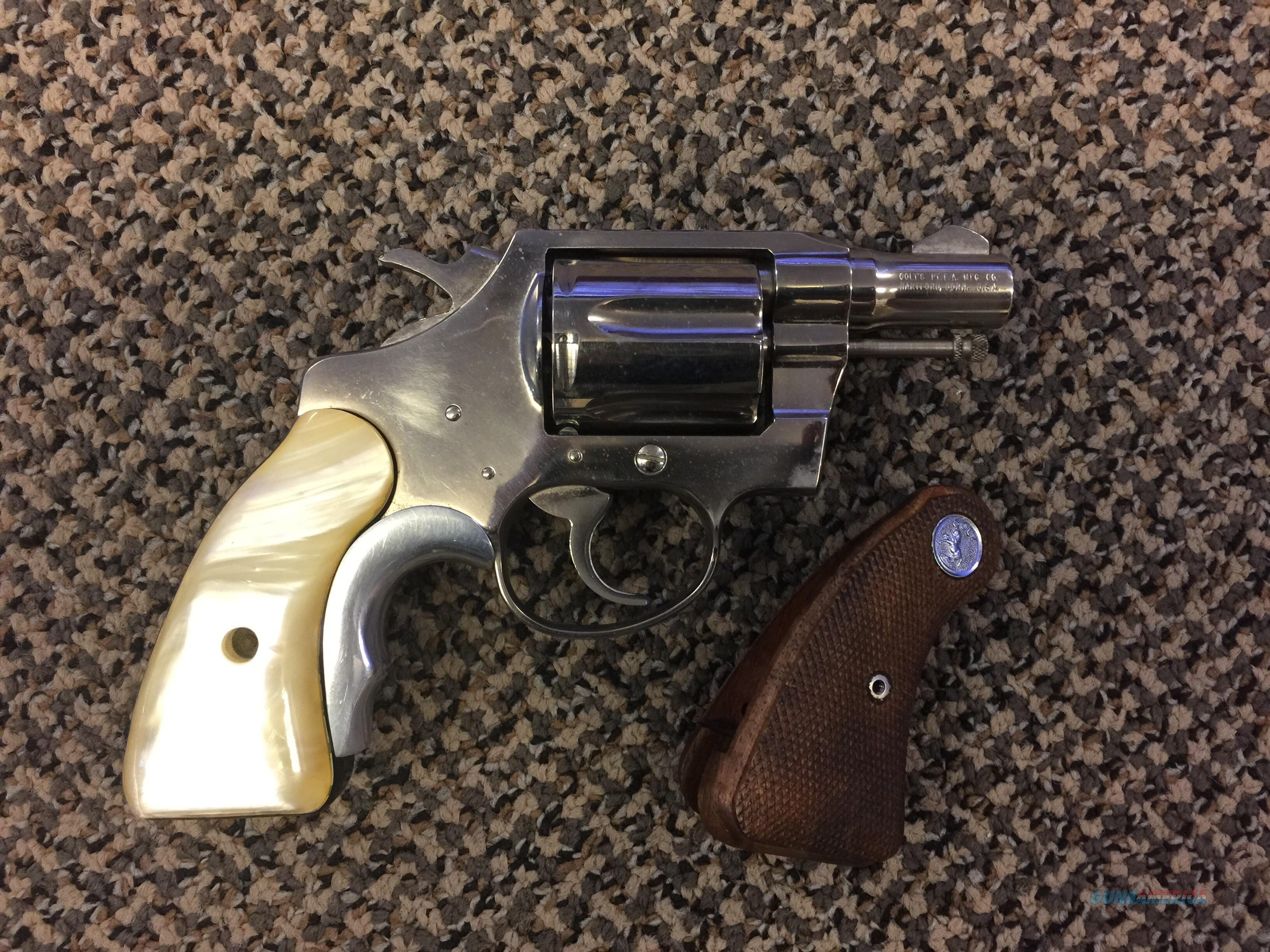 COLT DETECTIVE SPECIAL .38 SPECIAL NICKEL FINISH WITH ORIGINAL GRIPS  Guns > Pistols > Colt Double Action Revolvers- Modern