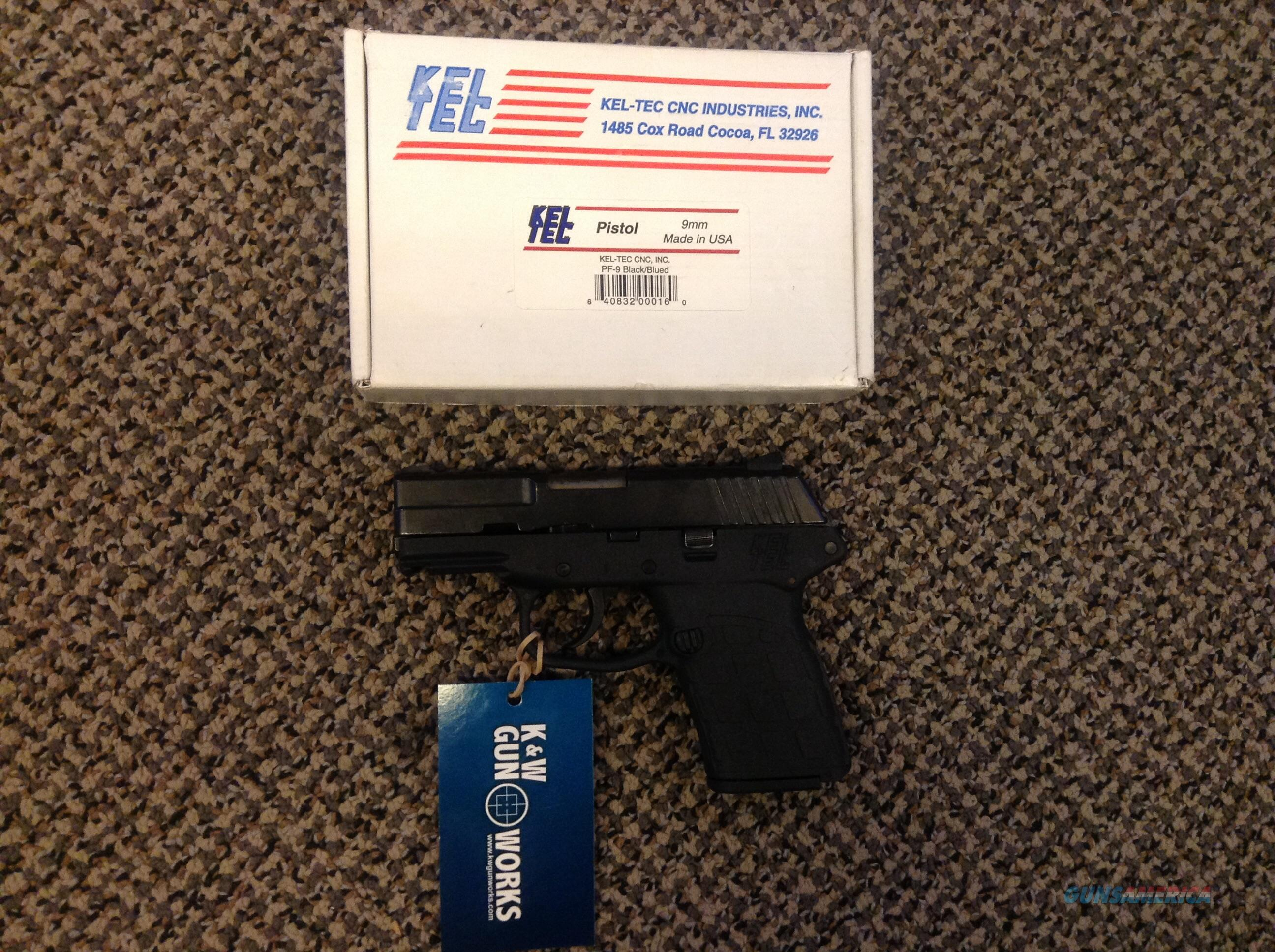 KEL-TEC PF9 9MM TWO MAGAZINES BOX AND PAPERS  Guns > Pistols > Kel-Tec Pistols > Pocket Pistol Type