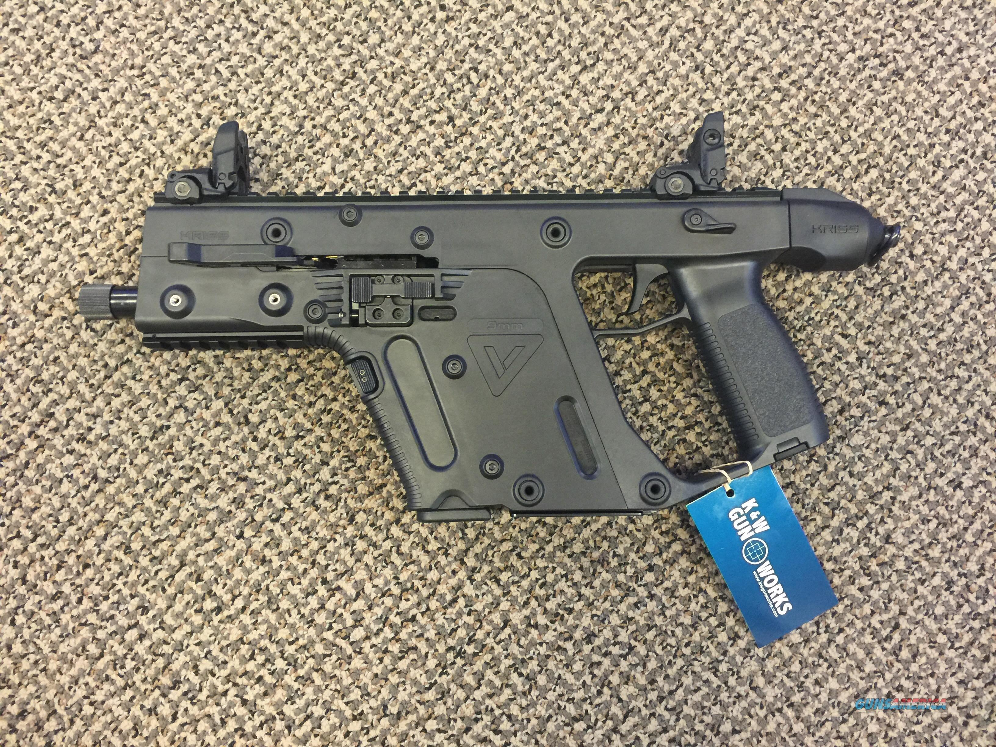KRISS VECTOR SDP GENERATION TWO 9MM PISTOL MINT 50 ROUNDS ONLY FIRED!  Guns > Pistols > Kriss Tactical Pistols