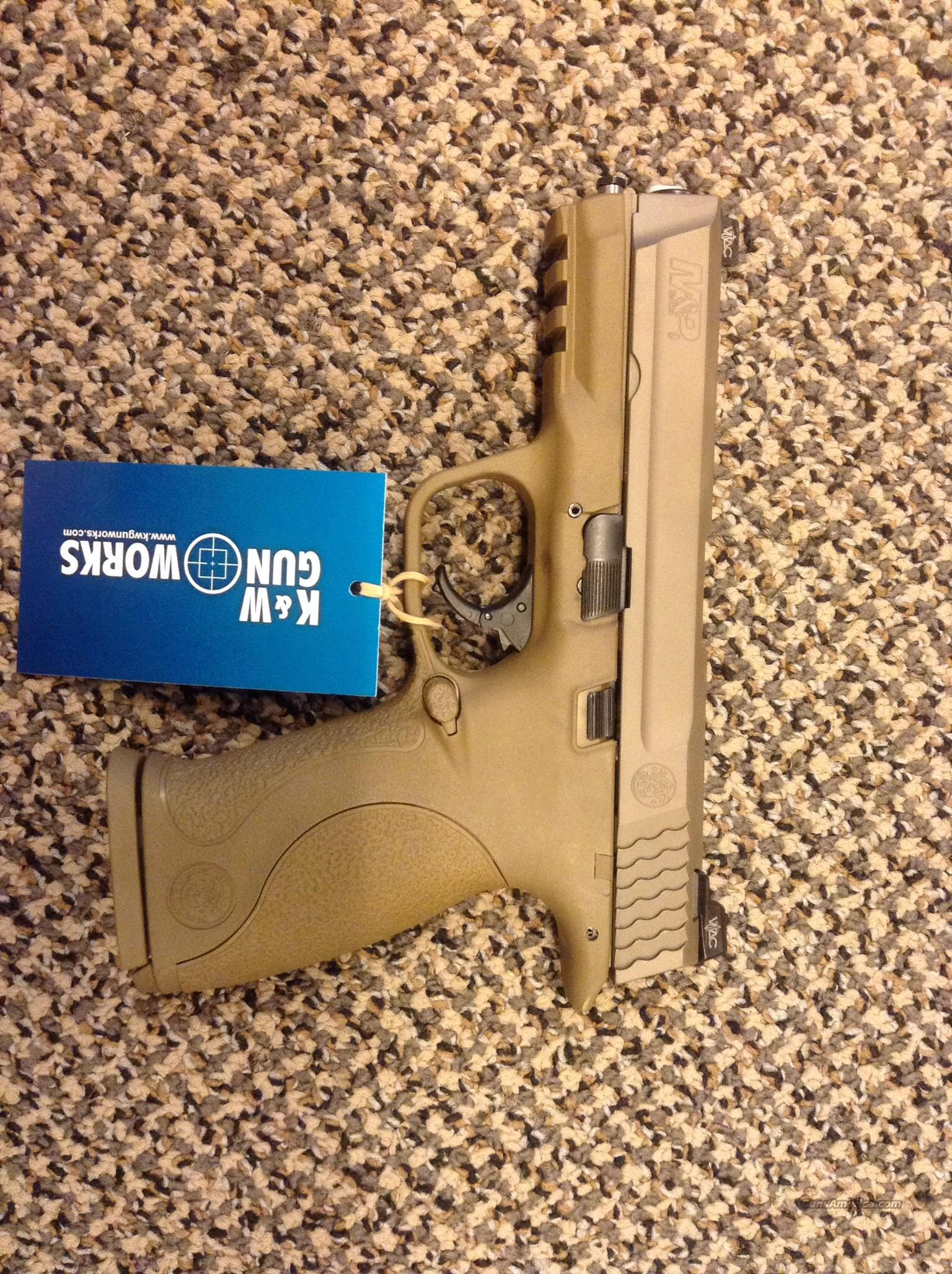 S&W M&P VTAC IN 9MM FLAT DARK EARTH VTAC WARRIOR FRONT AND REAR NIGHT SIGHTS NIB  Guns > Pistols > Smith & Wesson Pistols - Autos > Polymer Frame