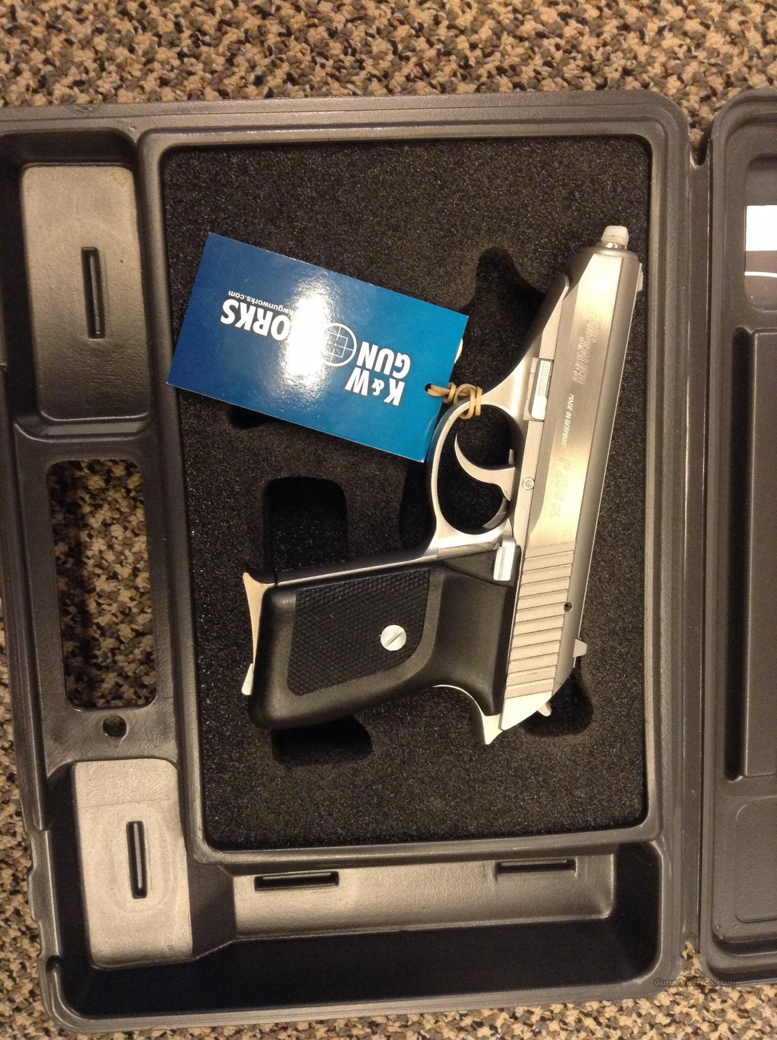 SIG SAUER P230SL MADE IN GERMANY BRUSHED STAINLESS .380 ACP  Guns > Pistols > Sig - Sauer/Sigarms Pistols > P230