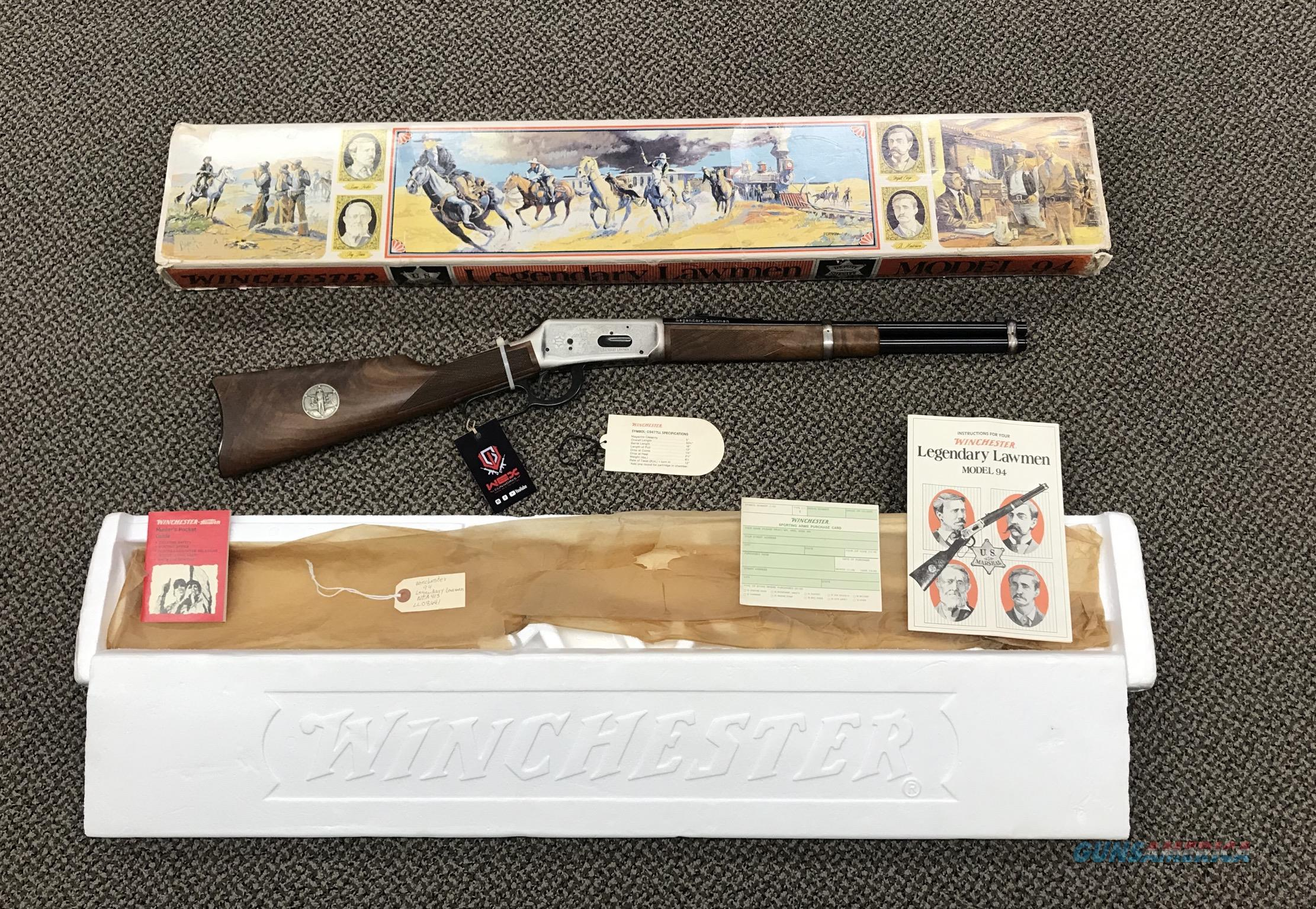 WINCHESTER MODEL 94 COMMERATIVE FACTORY ENGRAVED LEGENDARY LAWMAN 30-30 UNFIRED 16 INCH BBL LEVER ACTION  Guns > Rifles > Winchester Rifle Commemoratives