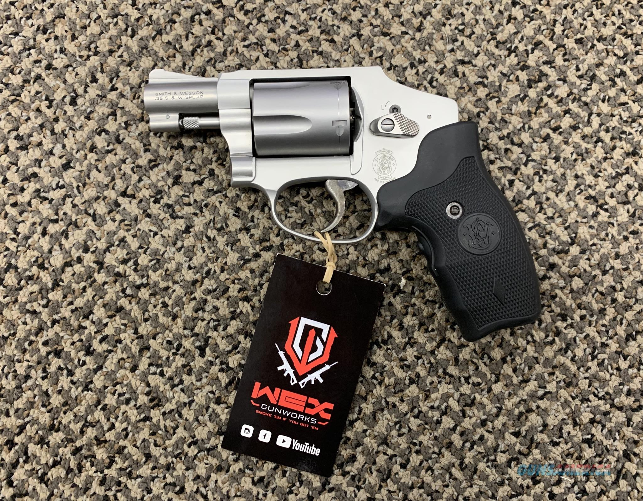 S&W MODEL 642-2 .38 SPECIAL WITH CRIMSON TRACE LASER GRIPS  Guns > Pistols > Smith & Wesson Revolvers > Small Frame ( J )