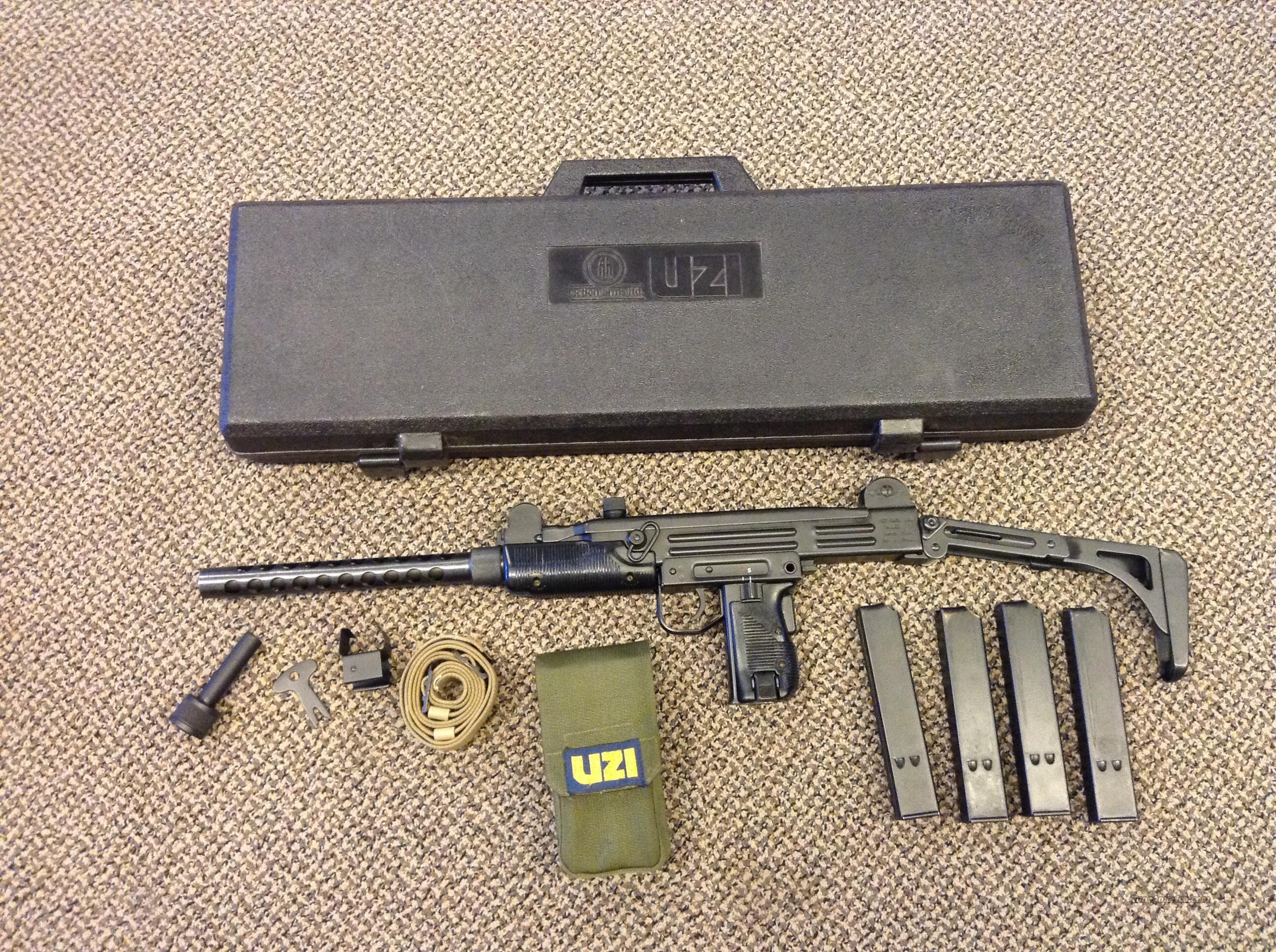 UZI IMI MODEL B 9MM CARBINE IMPORT ACTION ARMS PHILADELPHIA, PA  Guns > Rifles > IMI Rifles
