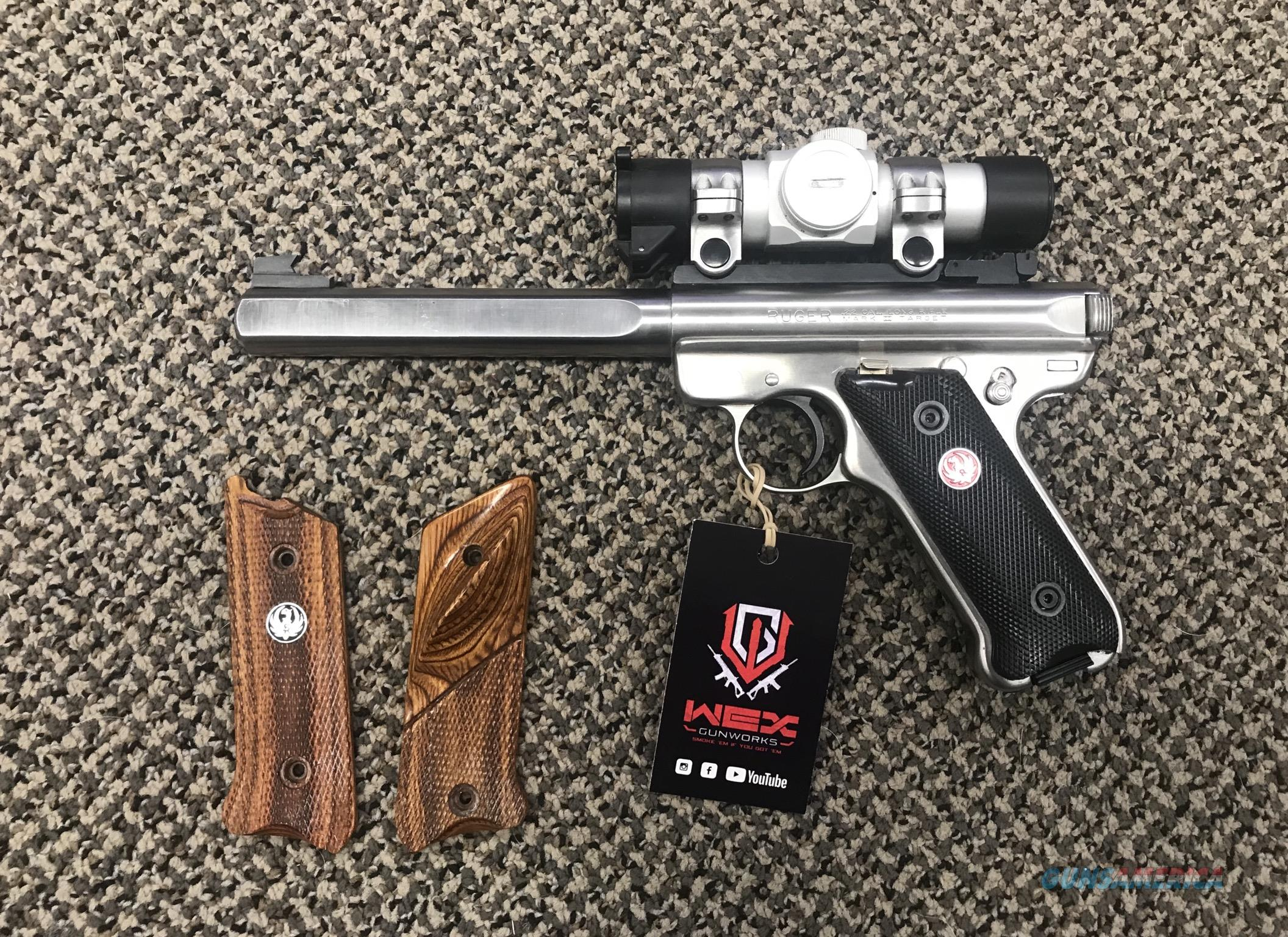 RUGER MARK II SLAB SIDE COMPETITION TARGET MODEL 6 7/8 INCH BBL  Guns > Pistols > Ruger Semi-Auto Pistols > Mark I/II/III/IV Family