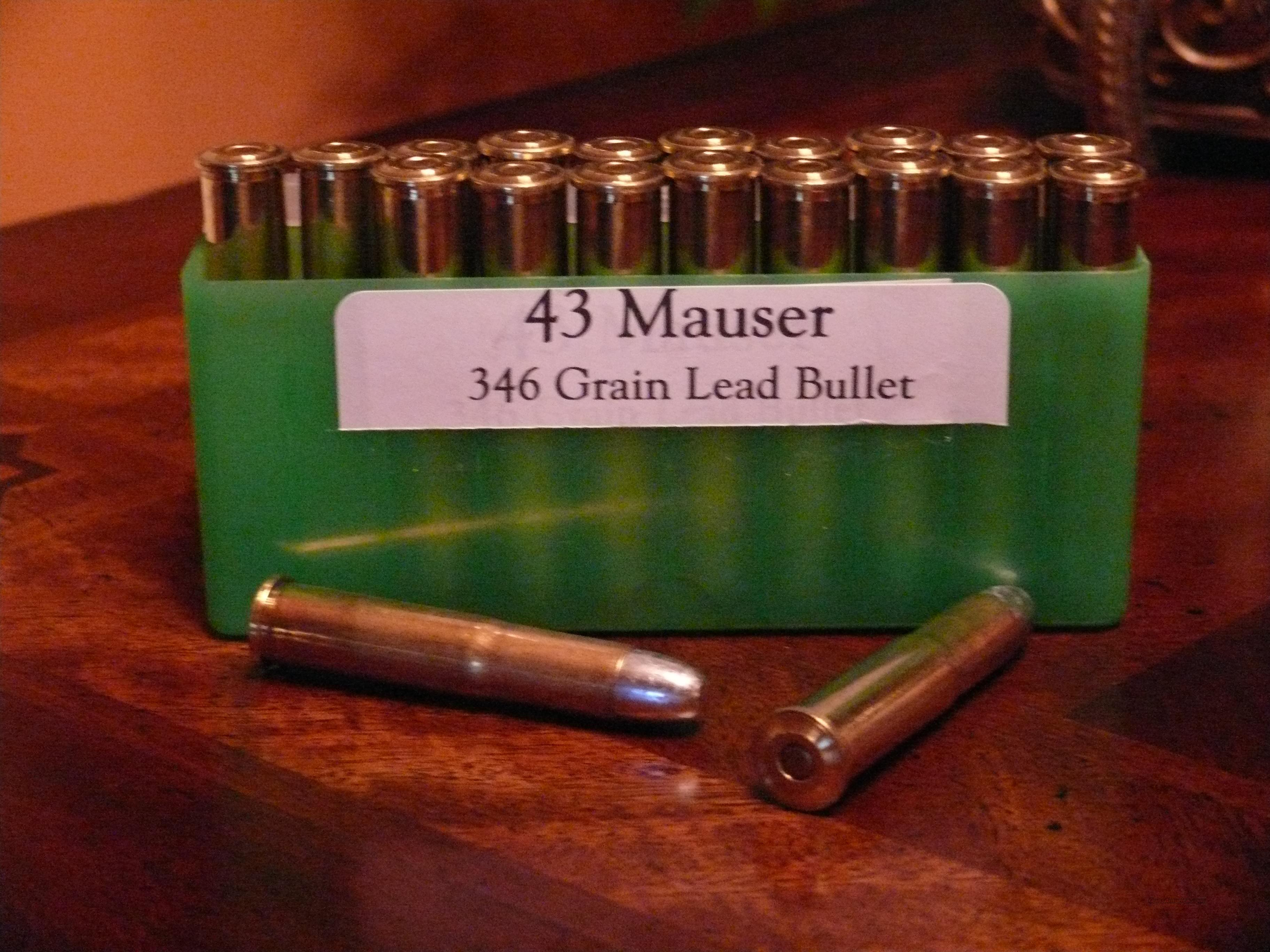 43 Mauser Ammunition  Non-Guns > Ammunition