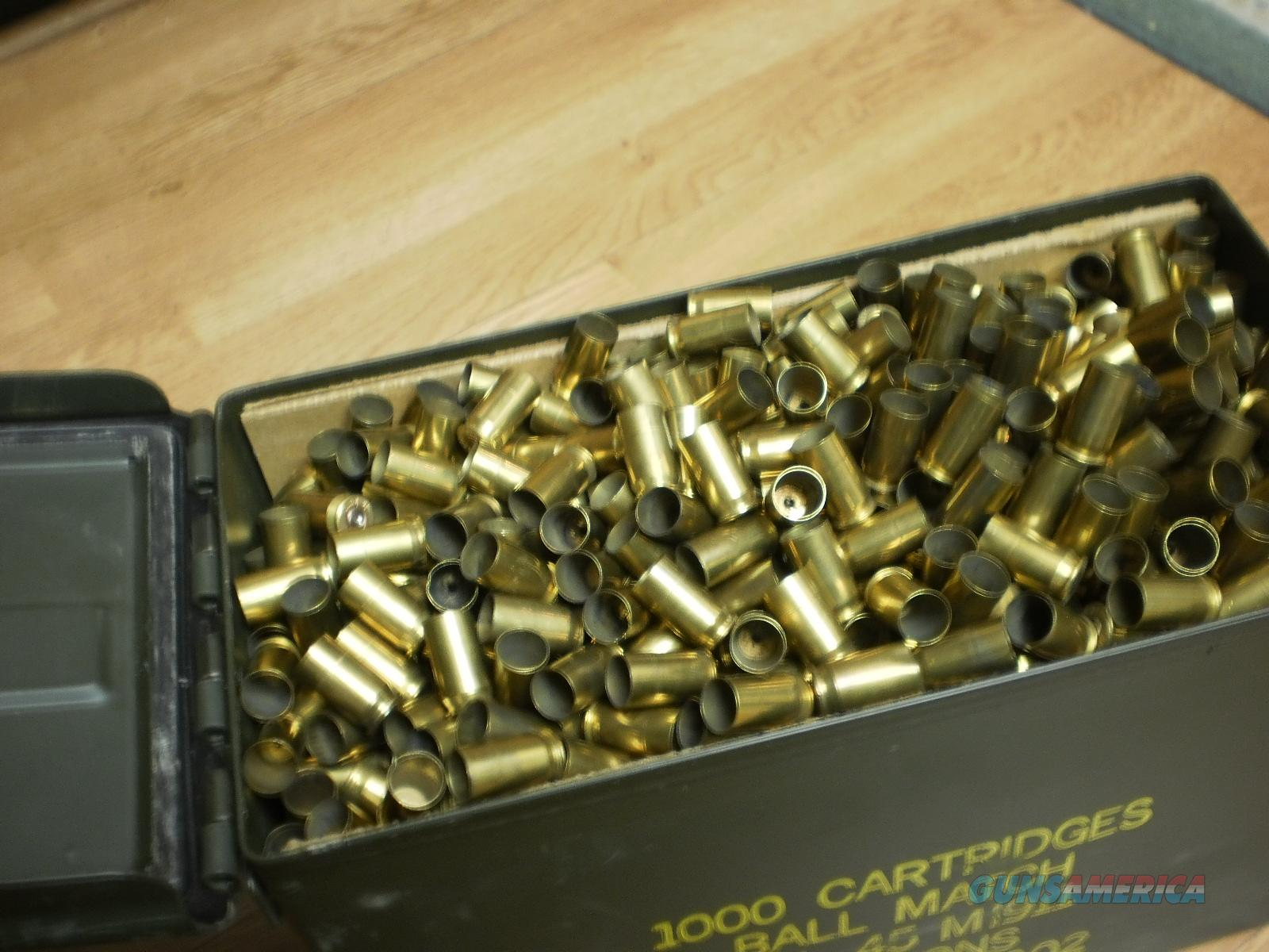 .45 ACP FIRED  BRASS, ,400 RD LOTS  CLEAN BUT NOT CLEANED  Non-Guns > Reloading > Components > Brass