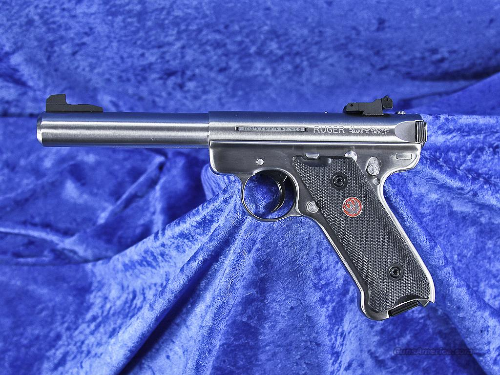 "Ruger MK III Target Stainless 5.5"" 10103 New KMKIII512 - NO CA SALES  Guns > Pistols > Ruger Semi-Auto Pistols > Mark I/II/III Family"