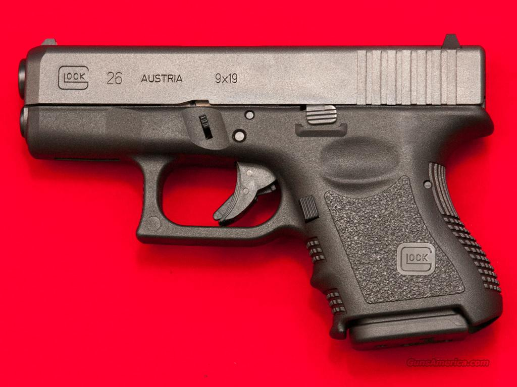 "Glock 26 GEN3 3"" 9mm Pistol PI2650201 NEW, CA O... for sale"