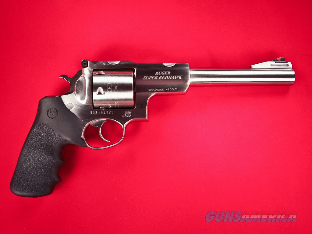 "Ruger Super Redhawk 5505 .454 Casull 7.5"" Factory New, CA OK  Guns > Pistols > Ruger Double Action Revolver > Redhawk Type"