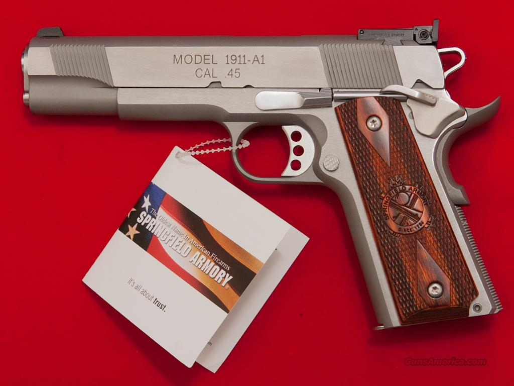 Springfield Armory 1911-A1 Loaded Target  .45ACP Pistol, NIB CA OK  Guns > Pistols > Springfield Armory Pistols > 1911 Type