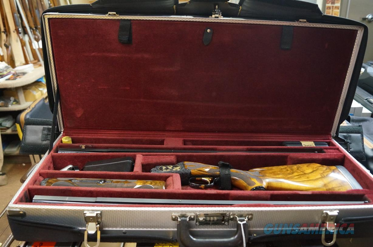 "Perazzi American Skeet 28"" Two Bbl. Tube Set, Angelo Bee Engraved  Guns > Shotguns > Perazzi Shotguns"