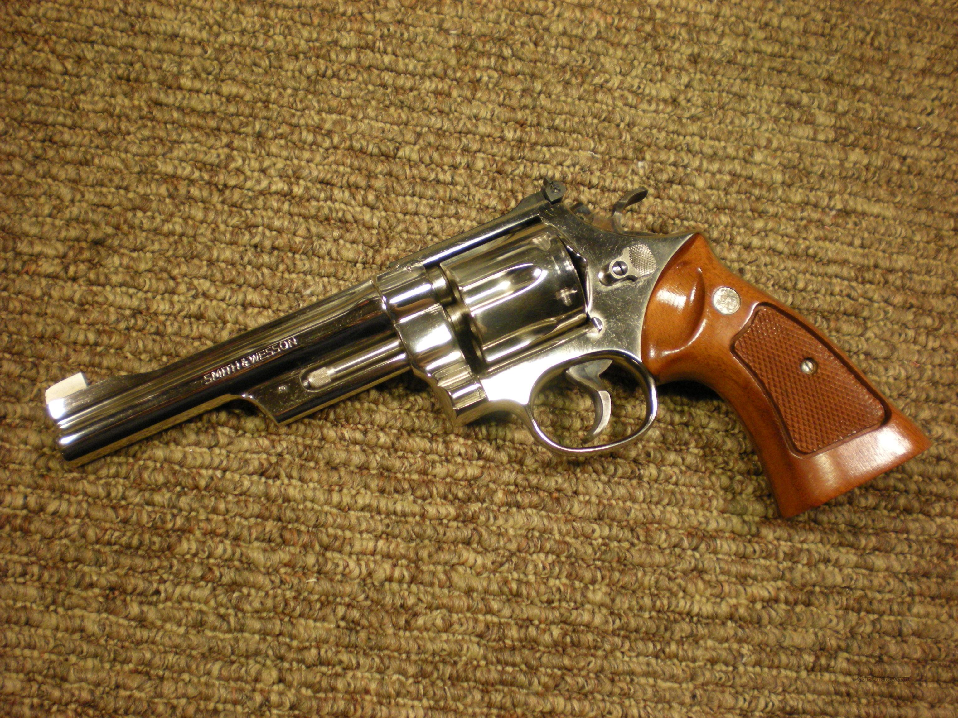 Smith & Wesson Model 29 NICKEL 6 Inch 357magnum  Guns > Pistols > Smith & Wesson Revolvers > Model 629