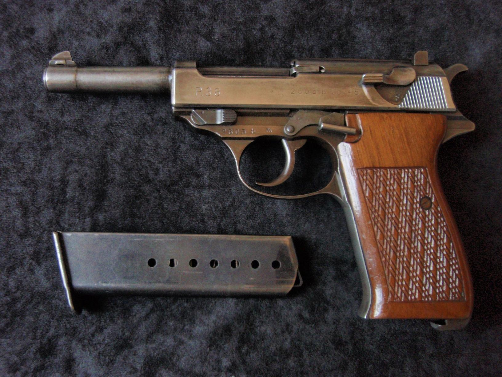 P38 WALTHER GERMAN NAZI MATCHING SERIAL NUMBERS WORLD WAR 2 PISTOL  Guns > Pistols > Walther Pistols > Pre-1945 > P-38