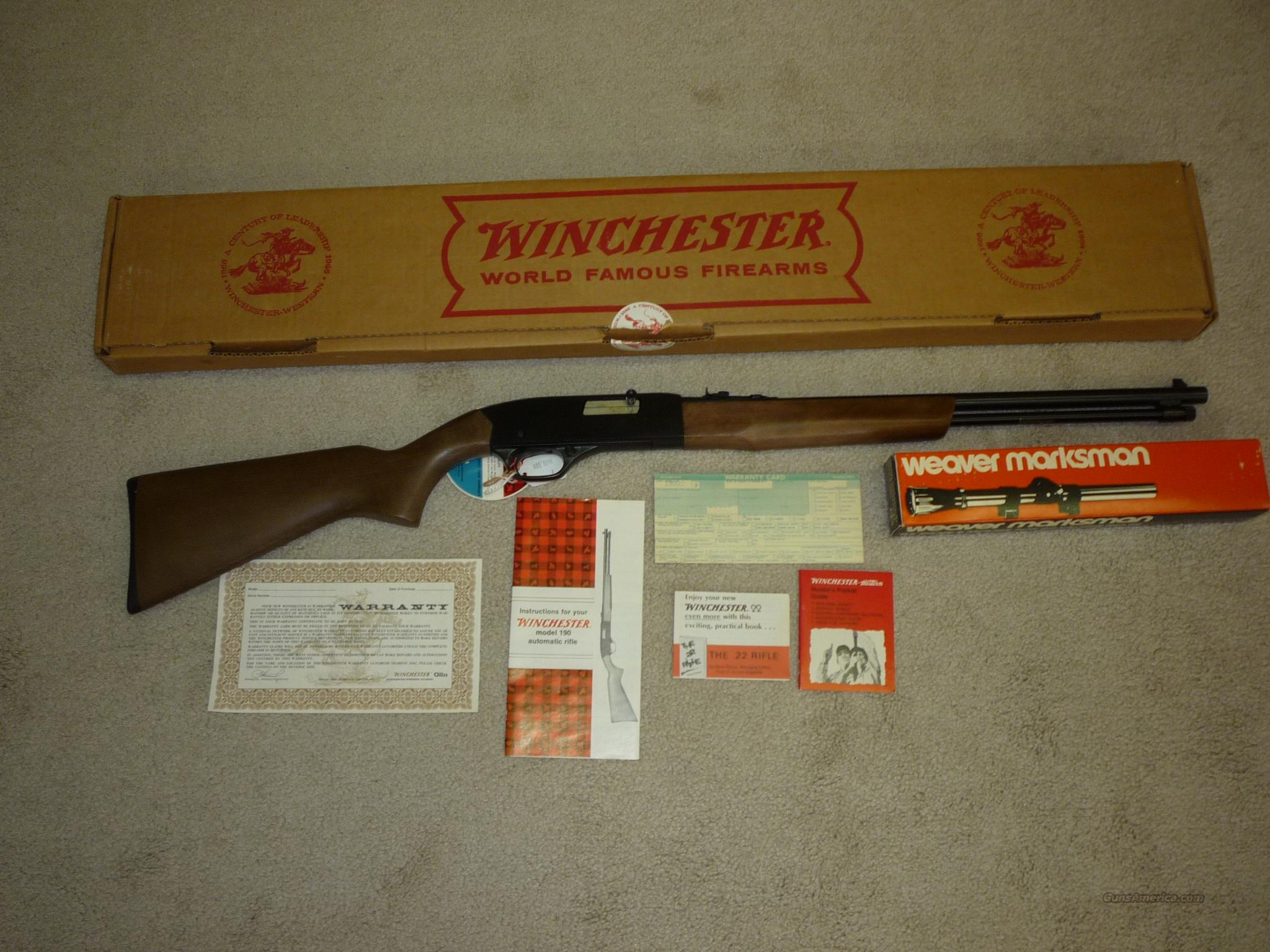 Winchester Model 190 FREE SHIPPING  Guns > Rifles > Winchester Rifles - Modern Bolt/Auto/Single > Autoloaders