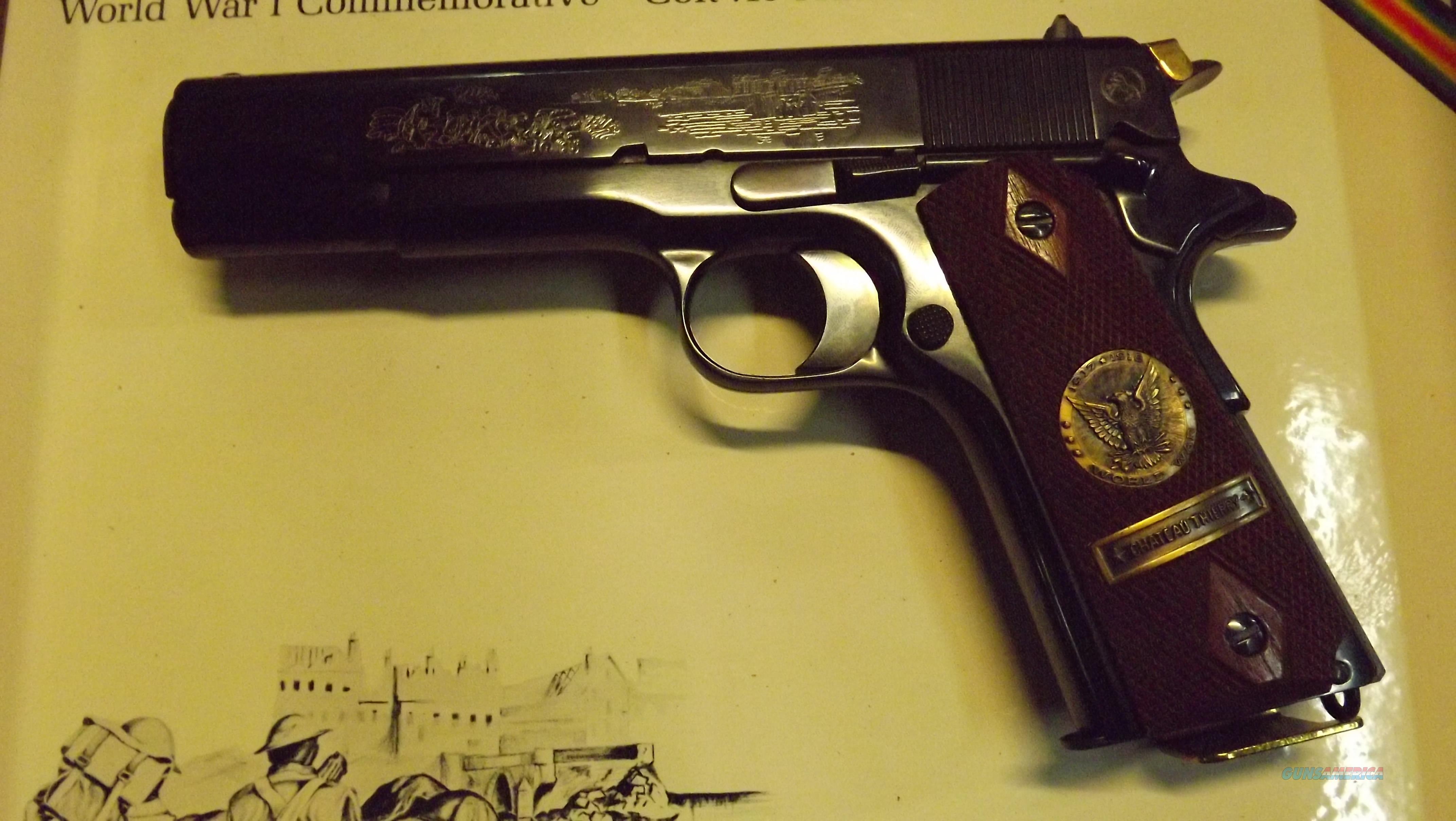 COLT 1911 WW1 1917/1967 CCCCCOMMERATIVE CHATEAU THIERRY  Guns > Pistols > Colt Commemorative Pistols