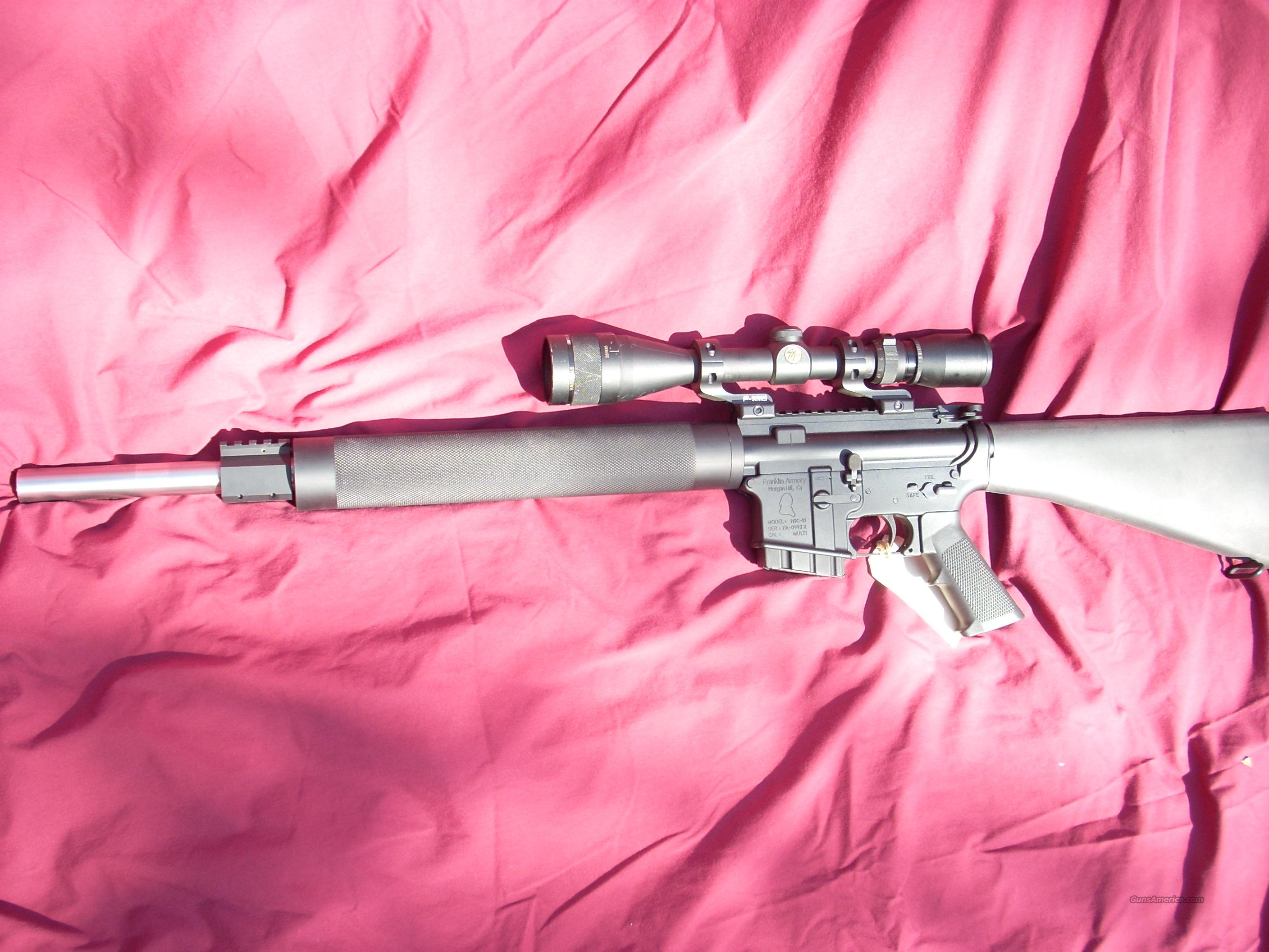 CALIFORNIA LEGAL AR-15/ FRANKLIN ARMORY/  Not bushmaster not colt  Guns > Rifles > AR-15 Rifles - Small Manufacturers > Complete Rifle