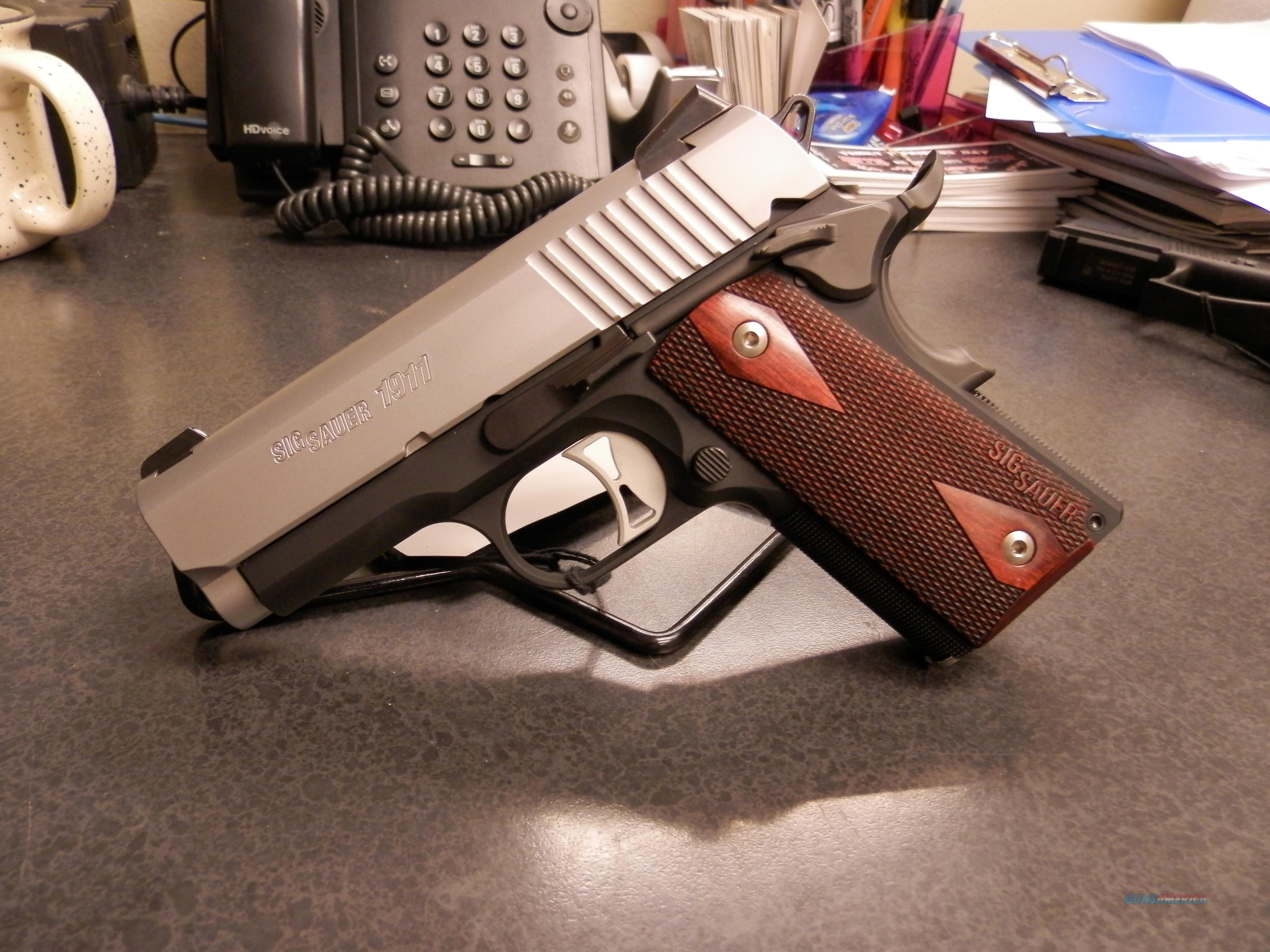 SIG SAUER 1911 ULTRA BI-TONE W/ROSEWOOD GRIPS 9MM  Guns > Pistols > Sig - Sauer/Sigarms Pistols > 1911