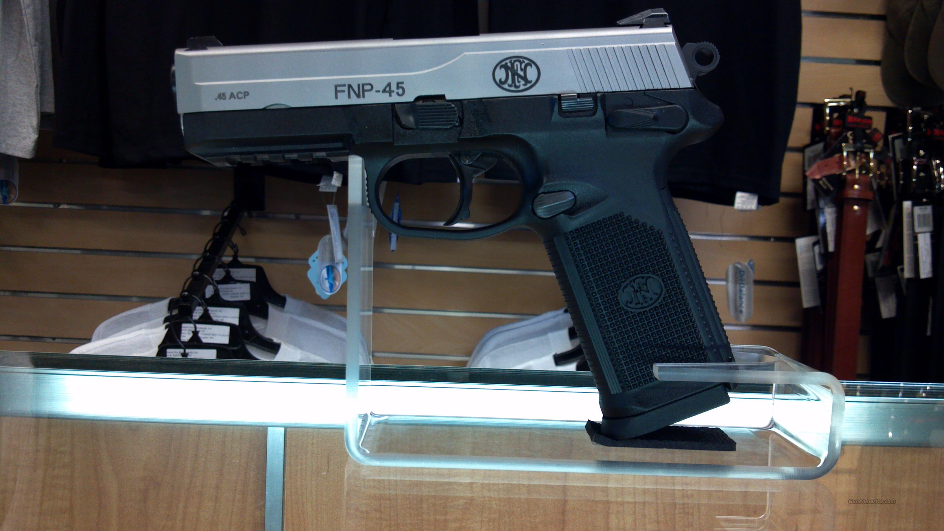 FNH FNP-45 Bi-Tone .45 ACP with 3 Magazines, Box, Holster  Guns > Pistols > FNH - Fabrique Nationale (FN) Pistols > FNP