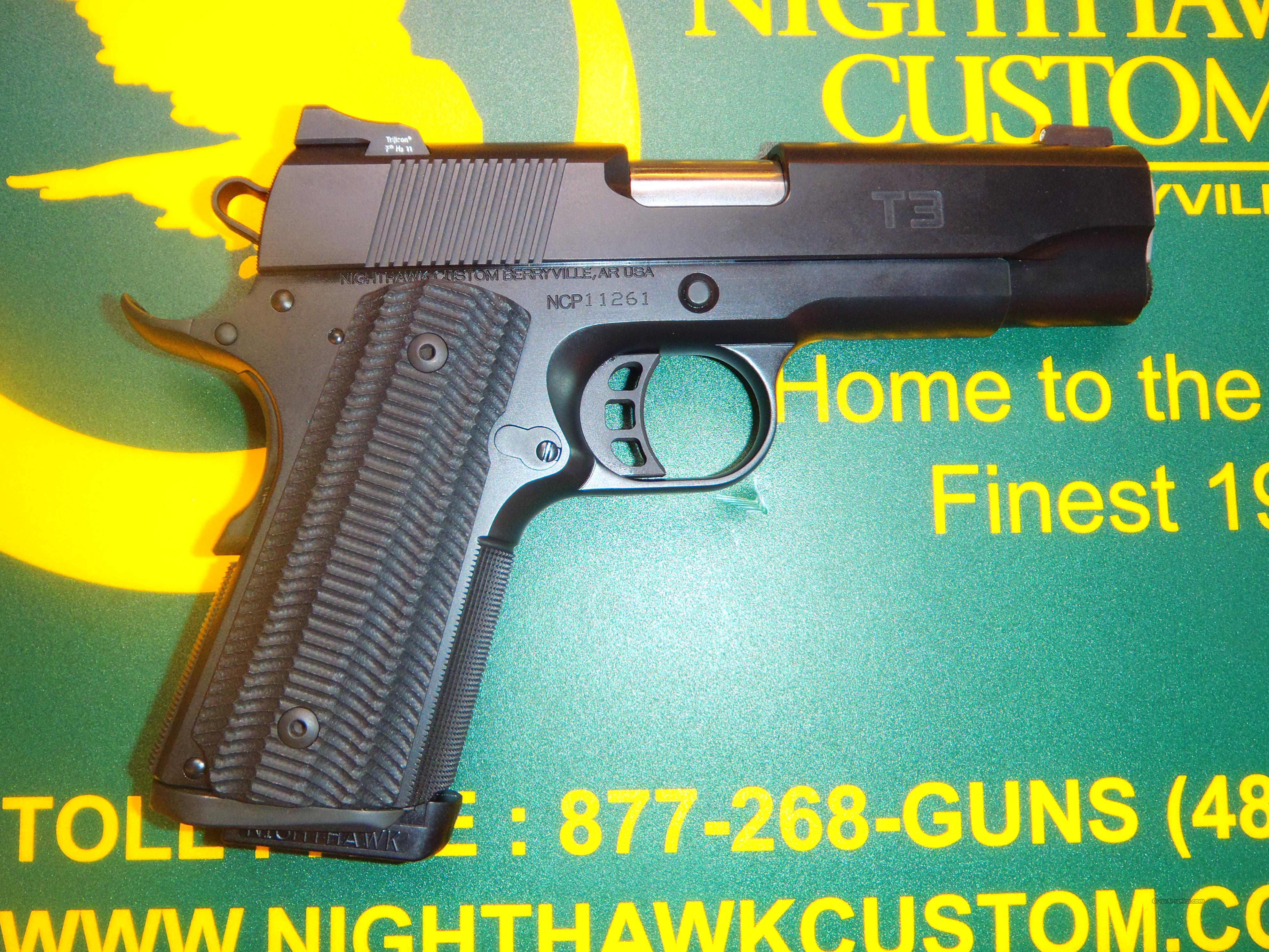 NIB Nighthawk Custom T3 Black on Black  Guns > Pistols > Nighthawk Pistols
