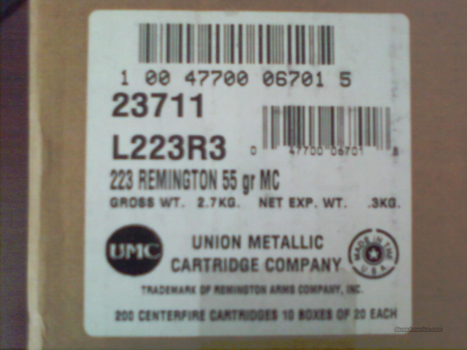 Remington Express Ammunition 223 Remington 55 Grain Full Metal Jacket Case of 10 Boxes of 20  Non-Guns > Ammunition