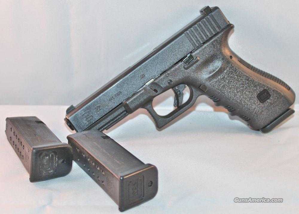 Glock GL22 .40SW LE Trade-In NS Good Condition 3-15rd Mags  Guns > Pistols > Glock Pistols > 22