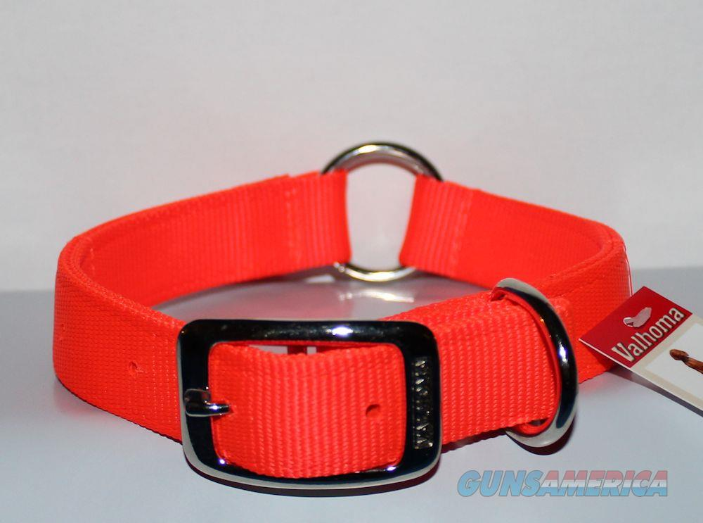 "Dog Collar Nylon Valhoma 2 Ply 18"" X 1"" Reflective And Center Ring 945-18HO  Non-Guns > Dogs > Equipment"