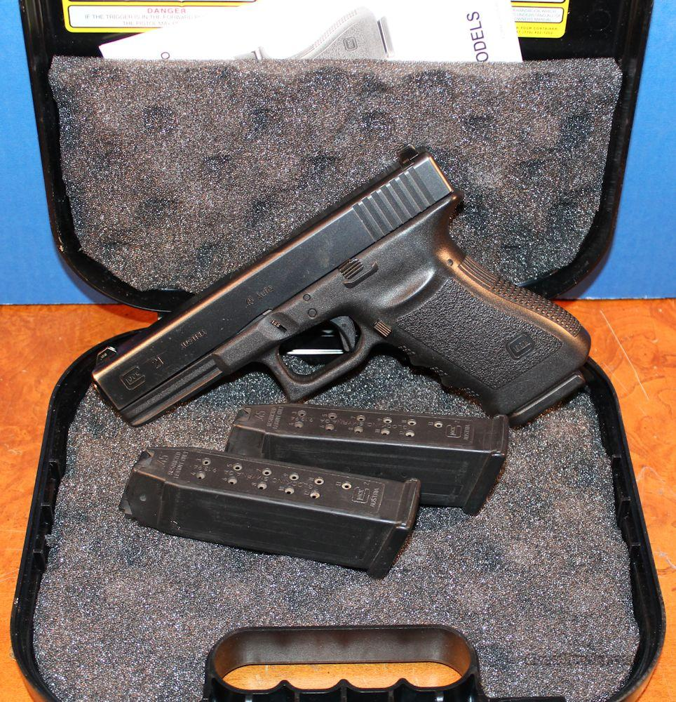 Glock 21 .45ACP Gen 3 LE Trade-In Good Condition (3) 13rd Mags Night Sights  Guns > Pistols > Glock Pistols > 20/21