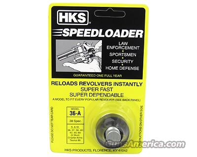 HKS Revolver Speed Loaders 36A 38/357 S&W,CHARTER, ROSSI and TAURUS  Non-Guns > Hunting Clothing and Equipment > Ammo Pouches/Holders/Shell Bags