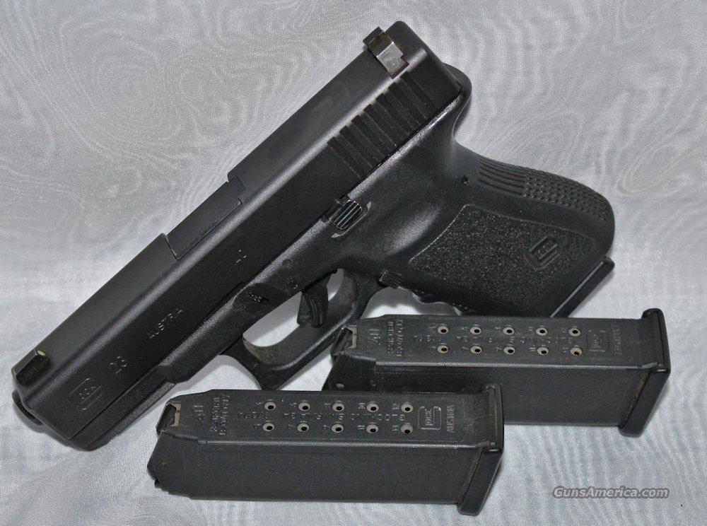 Glock 23 .40SW Generation 3 LE Trade-In (3) 13rd Mags Night Sights - Good Condition  Guns > Pistols > Glock Pistols > 23