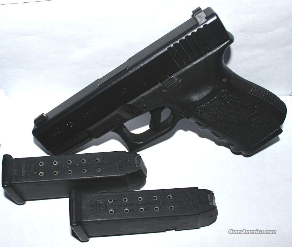 Glock 23 .40SW Generation 3 LE Trade-In (3) 13rd Mags Night Sights - Very Good To Excellent Condition  Guns > Pistols > Glock Pistols > 23