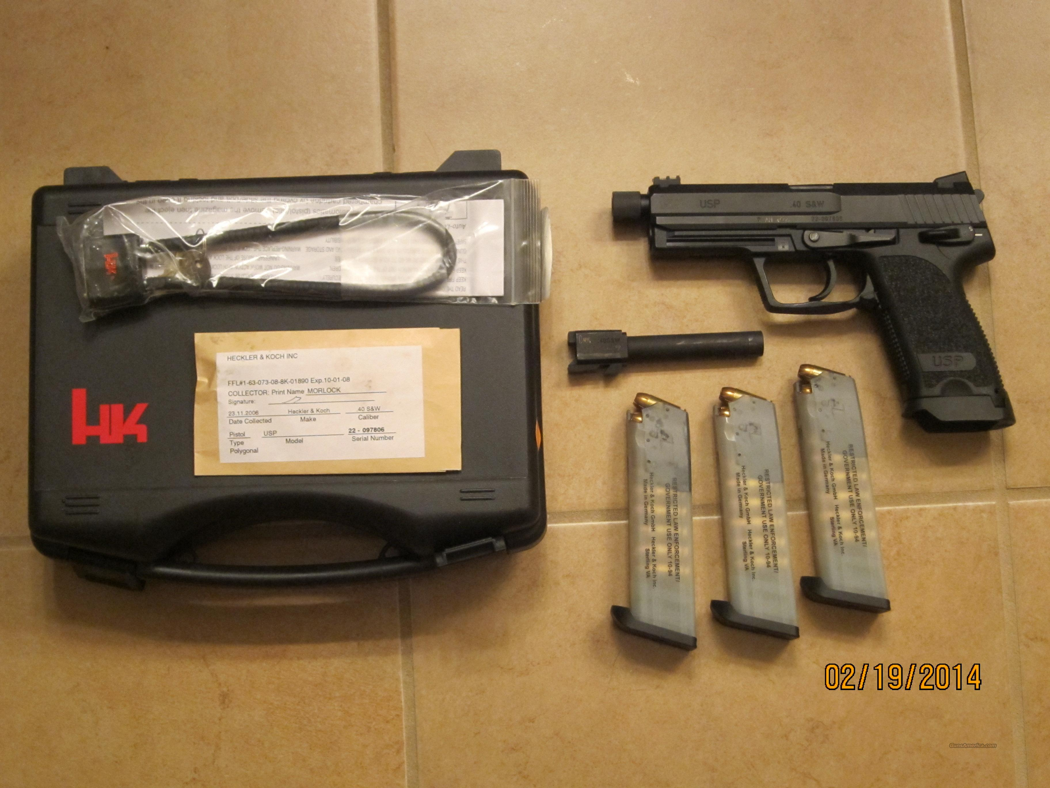 HK Custom Combat 40 USP cal with 3 16 rounds magazine and Mag and gun holster (SEND OFFERS)  Guns > Pistols > Heckler & Koch Pistols > Polymer Frame