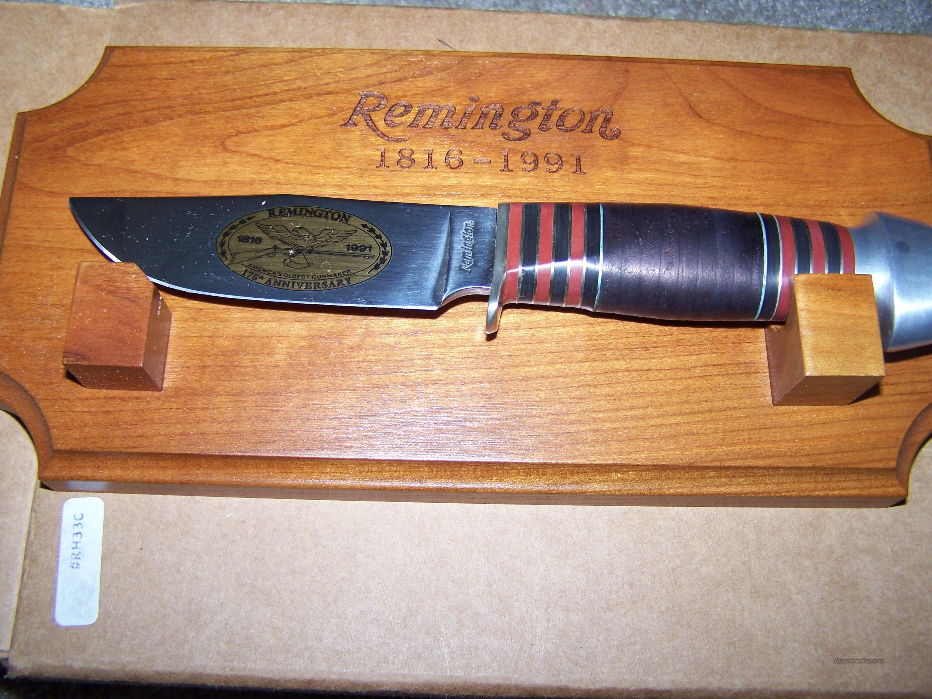 REMINGTON RH33C 175th ANNIVERSARY  Non-Guns > Knives/Swords > Knives > Fixed Blade > Hand Made