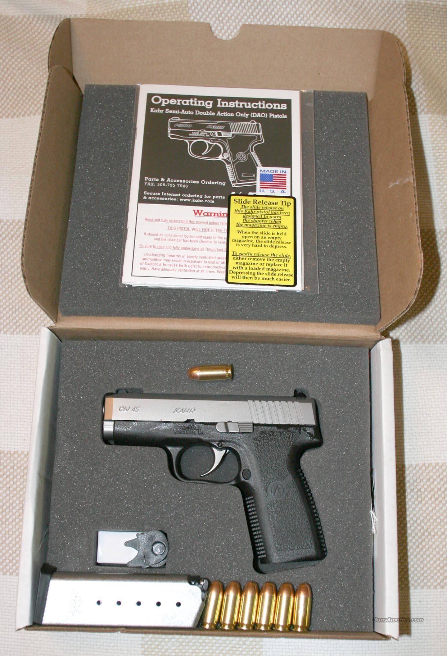 "Kahr Arms CW45 45ACP 3.5"" 6-1 ""NIB"" ""price drop""  Guns > Pistols > Kahr Pistols"