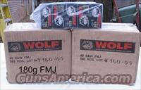 "Wolf 40 S/W 180g FMJ 1000 rounds ""Price Drop""  Ammunition"