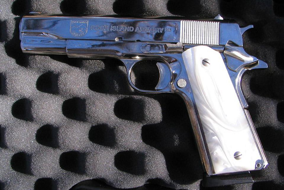 Armscor / Rock Island 1911A1 45 ACP Nickle Plated  Guns > Pistols > 1911 Pistol Copies (non-Colt)