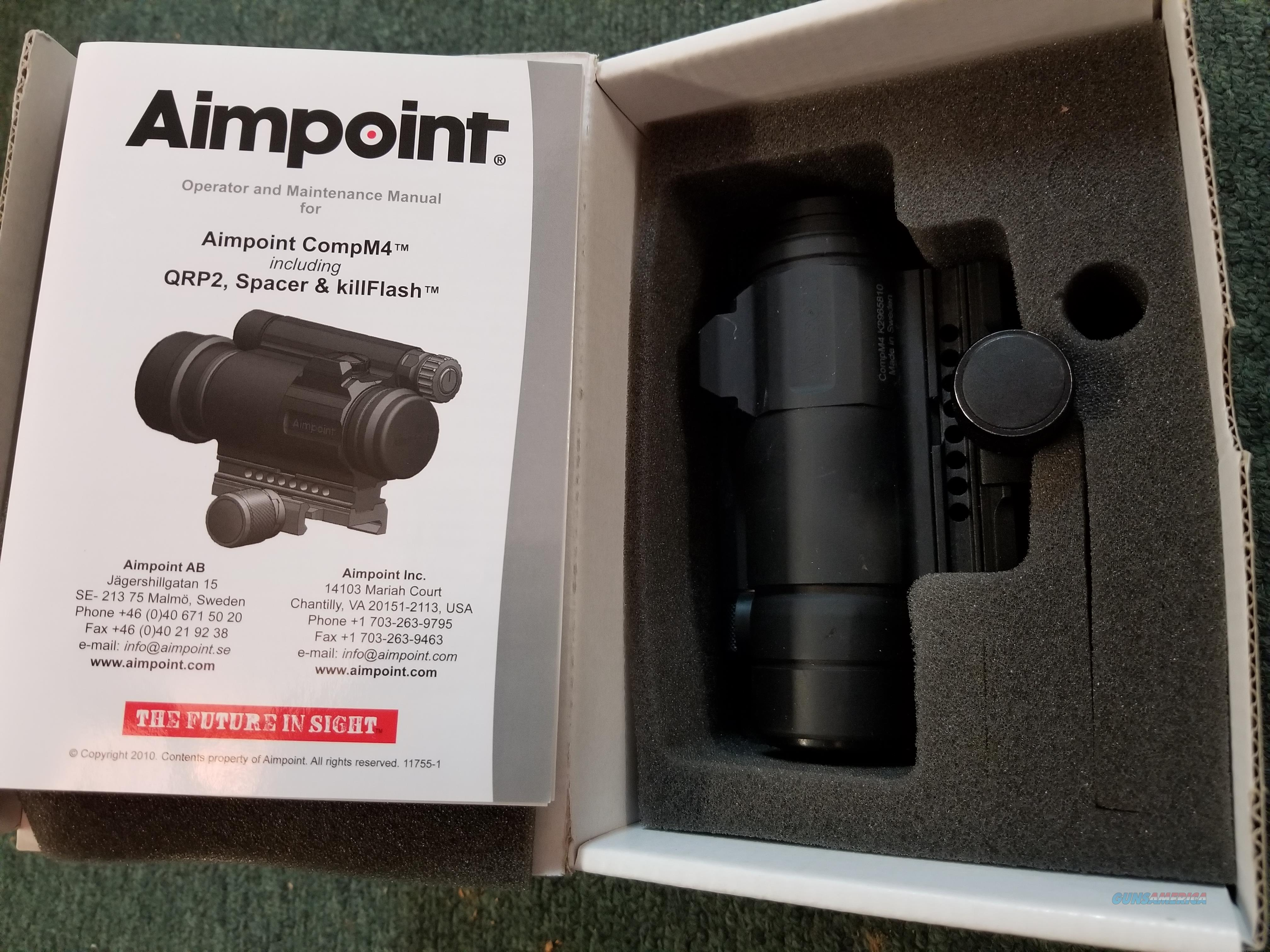 Aimpoint Comp M4h  Non-Guns > Scopes/Mounts/Rings & Optics > Tactical Scopes > Red Dot