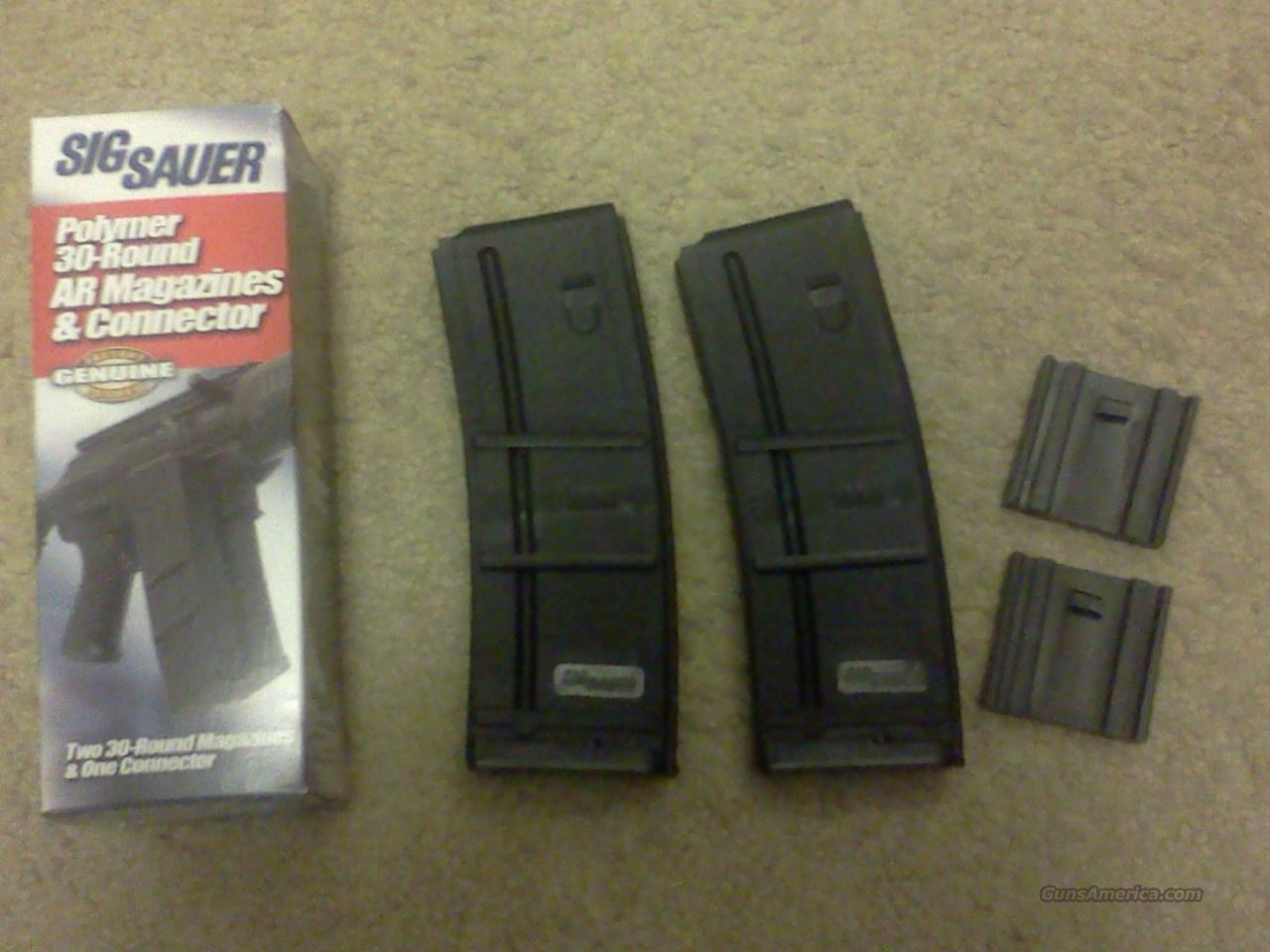SIG SAUER 30 ROUND .556 MAGAZINES WITH CONNECTOR  Non-Guns > Magazines & Clips > Rifle Magazines > AR-15 Type
