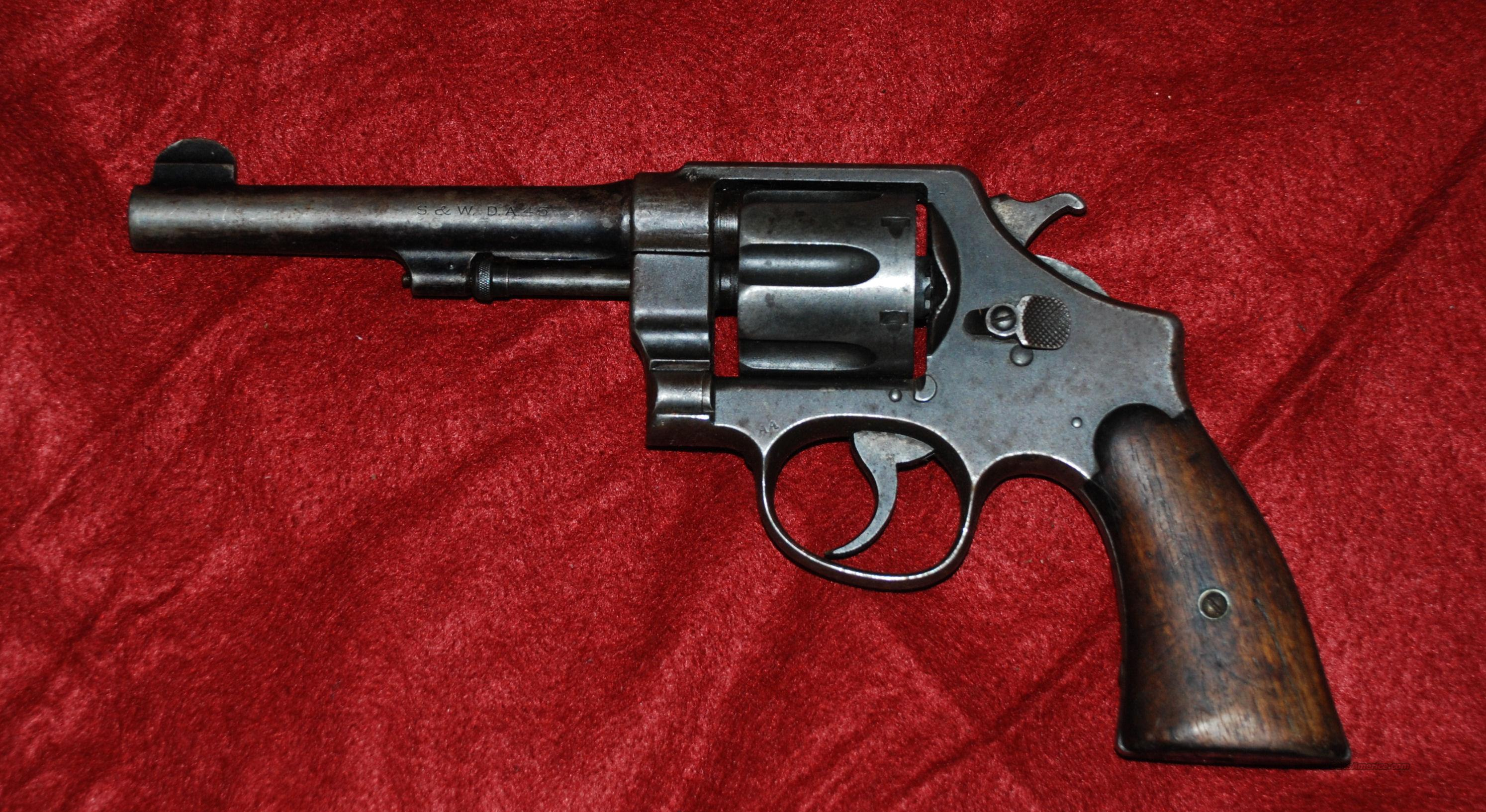 S&W DA .45 - Model 1917 Military .45 acp  Guns > Pistols > Smith & Wesson Revolvers > Pre-1945