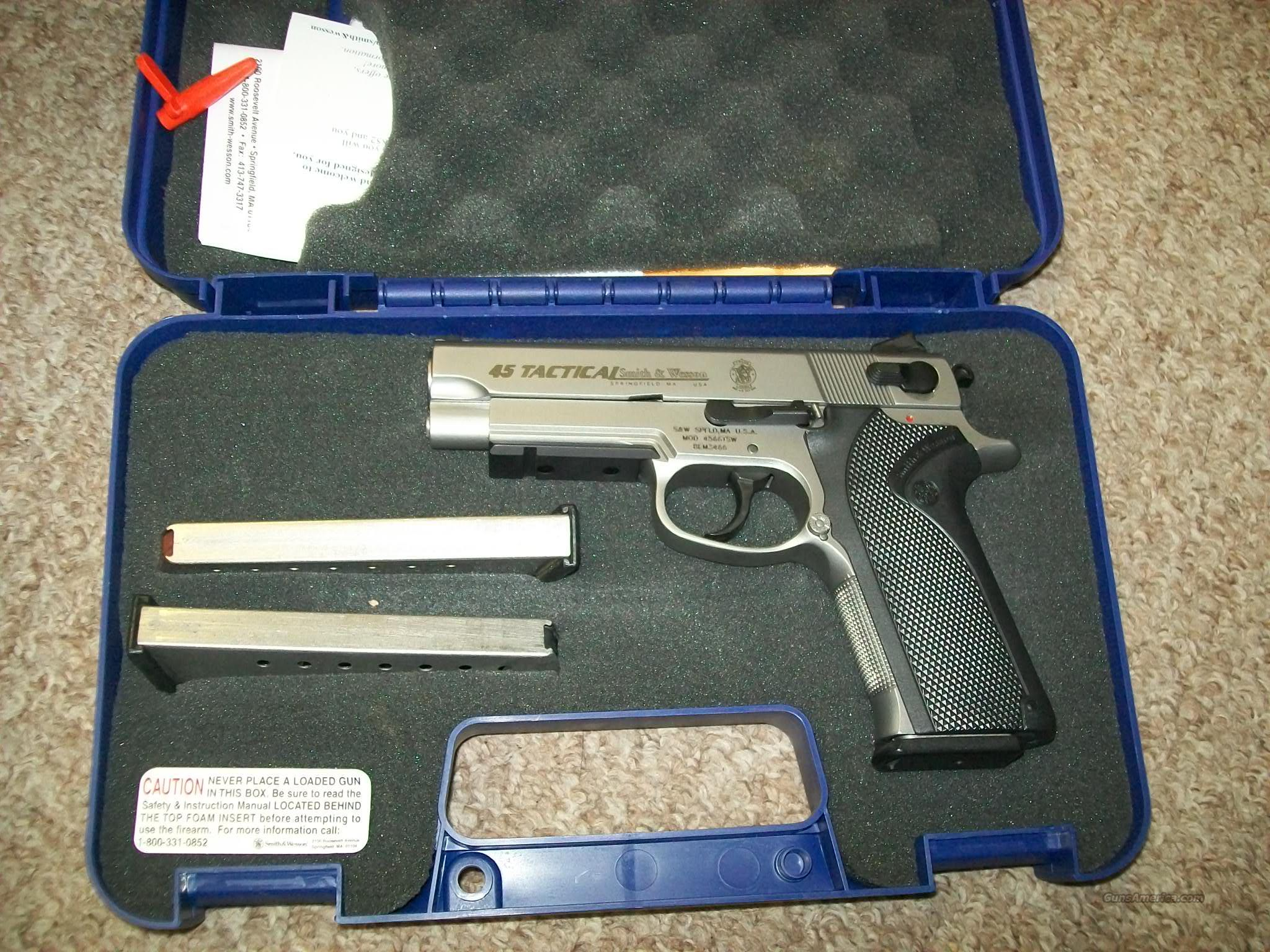 S&W 45 tactical  Guns > Pistols > Smith & Wesson Pistols - Autos > Steel Frame